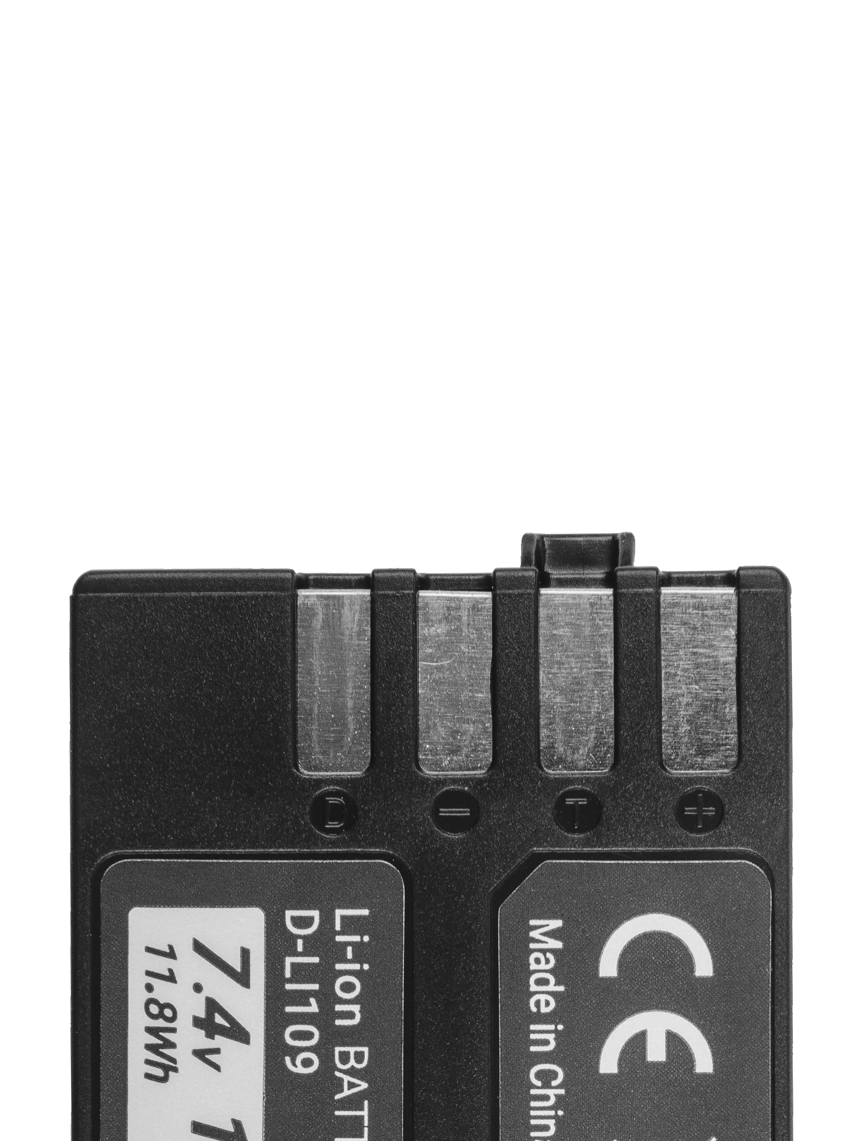 Baterie Green Cell Pentax D-Li109 DLi109, pro Pentax K-r, K-2, K-30, K-50, K-500, K-S1, K-S2 7.4V 1600mAh Li-ion - neoriginální