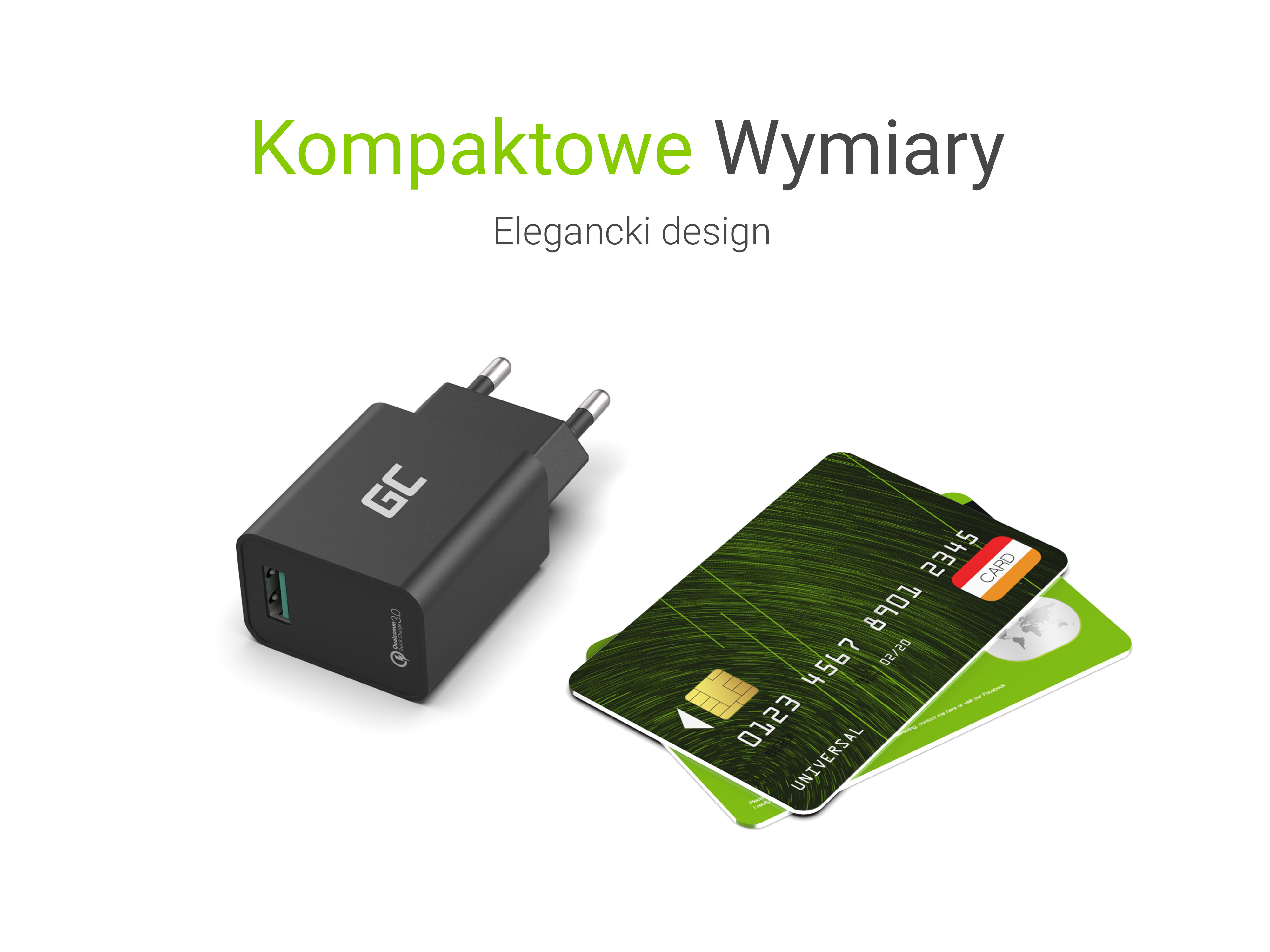 Green Cell Charger USB QC 3.0