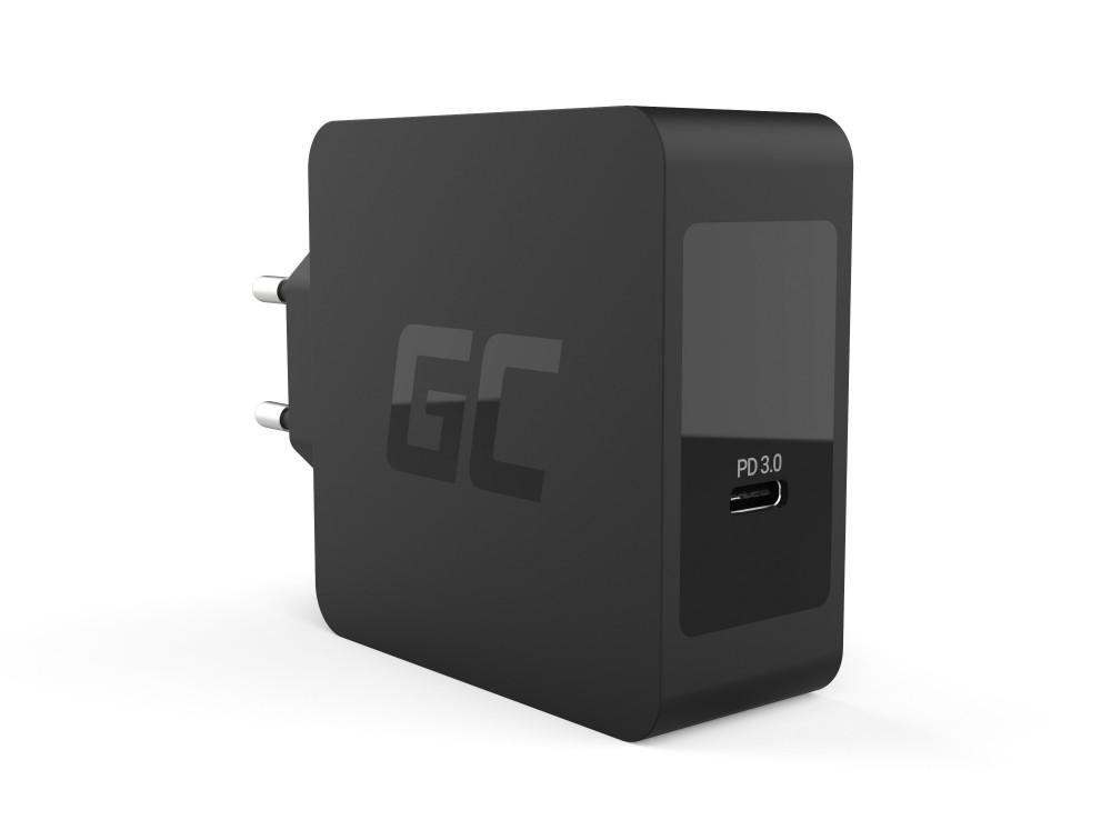 Green Cell hálózati töltő USB-C 60W PD USB-C kábel
