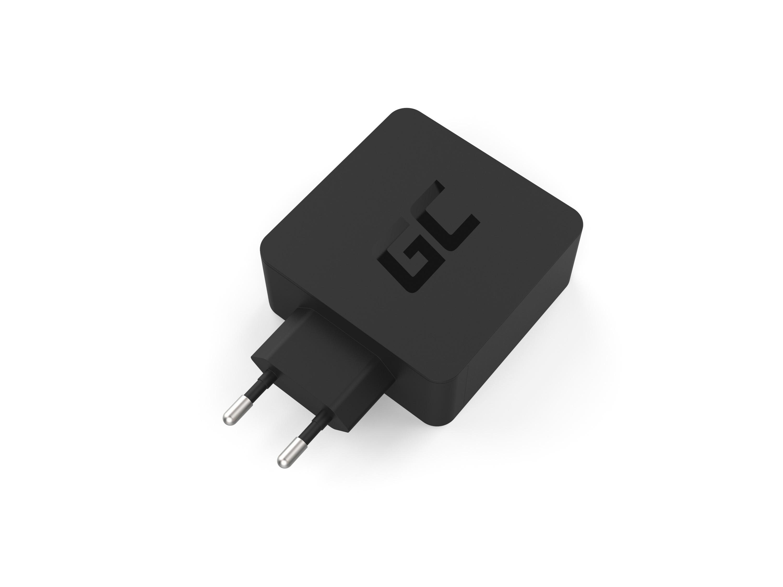 Green Cell Nabíječka USB-C 45W PD s kabel USB-C a extra USB port pro Asus ZenBook, HP Spectre, HP Envy x2 a ostatní