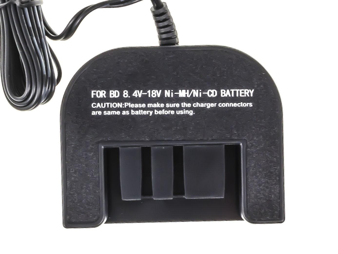 Green Cell ® Power Tool Battery Charger for Black&Decker 8.4V -18V Ni-MH Ni-Cd