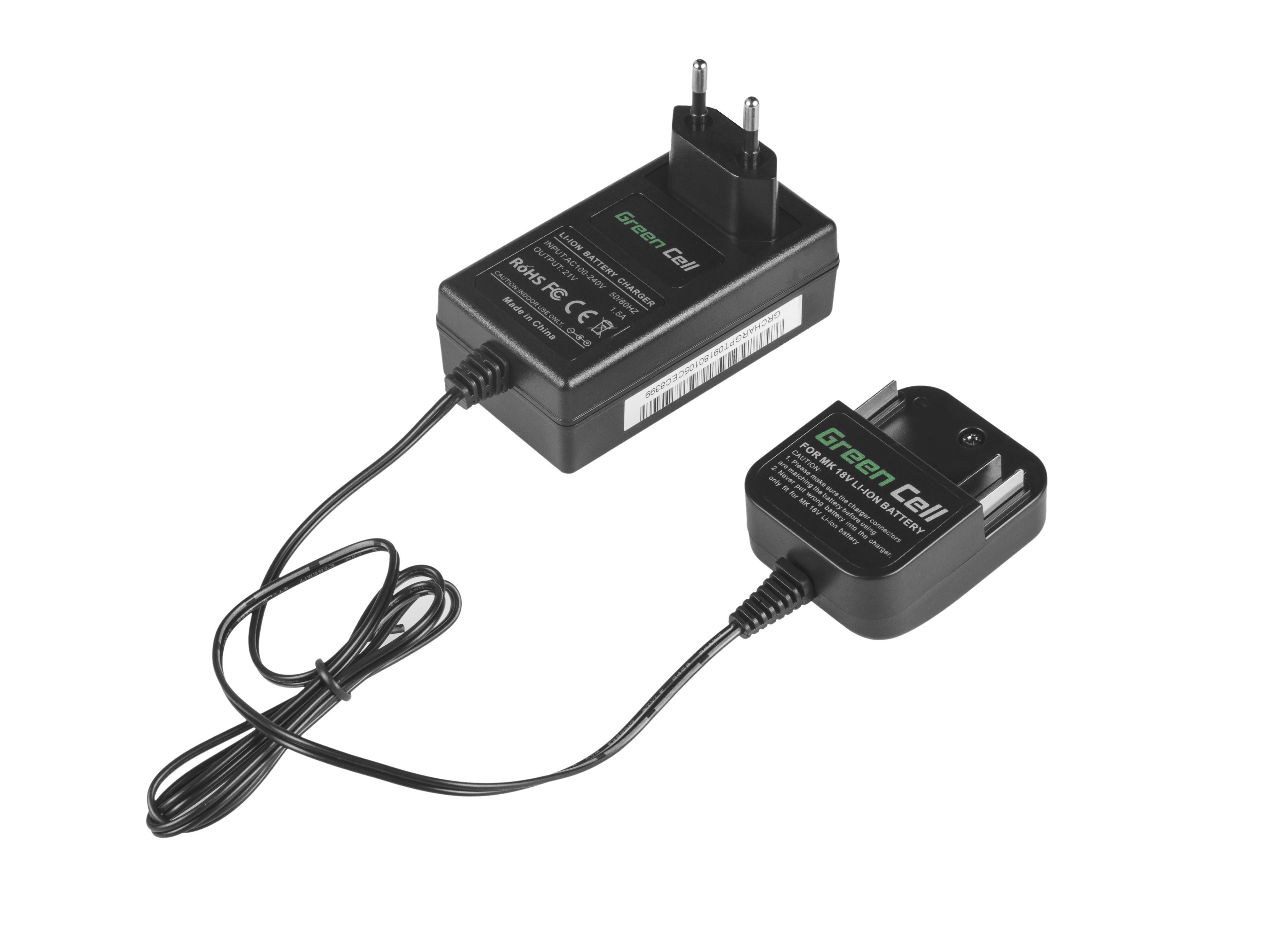 Adaptér pro Makita 18V Li-Ion BL1815 BL1830 BL1840 BL1850 LXT400 18V 1.5A