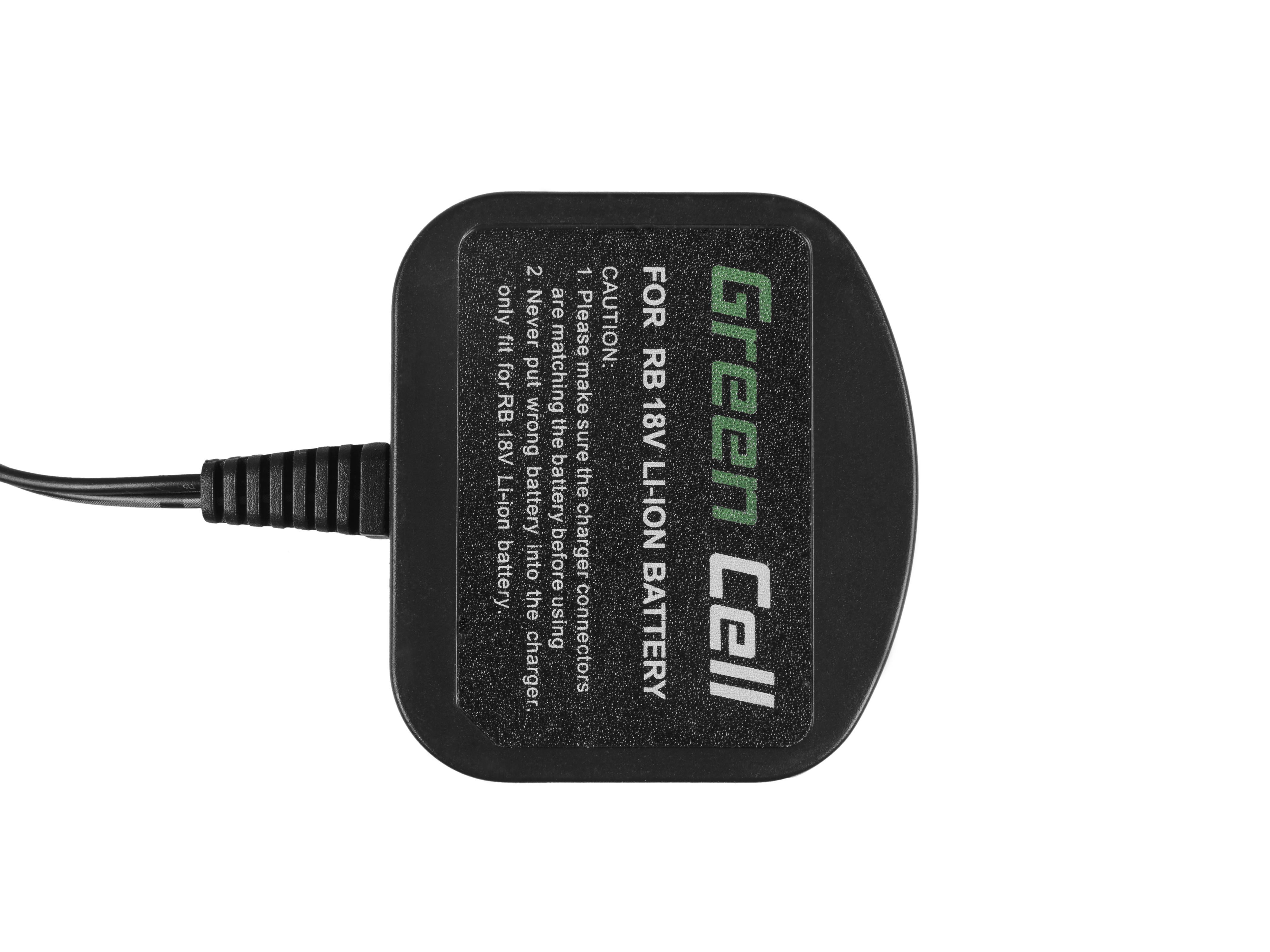 Green Cell CHARGPT10 Nabíječka pro Ryobi ONE+ RC18120 RB18L50 RB18L13 RB18L15 RB18L20 RB18L25 RB18L40 RB18L60 P300 P580 18V