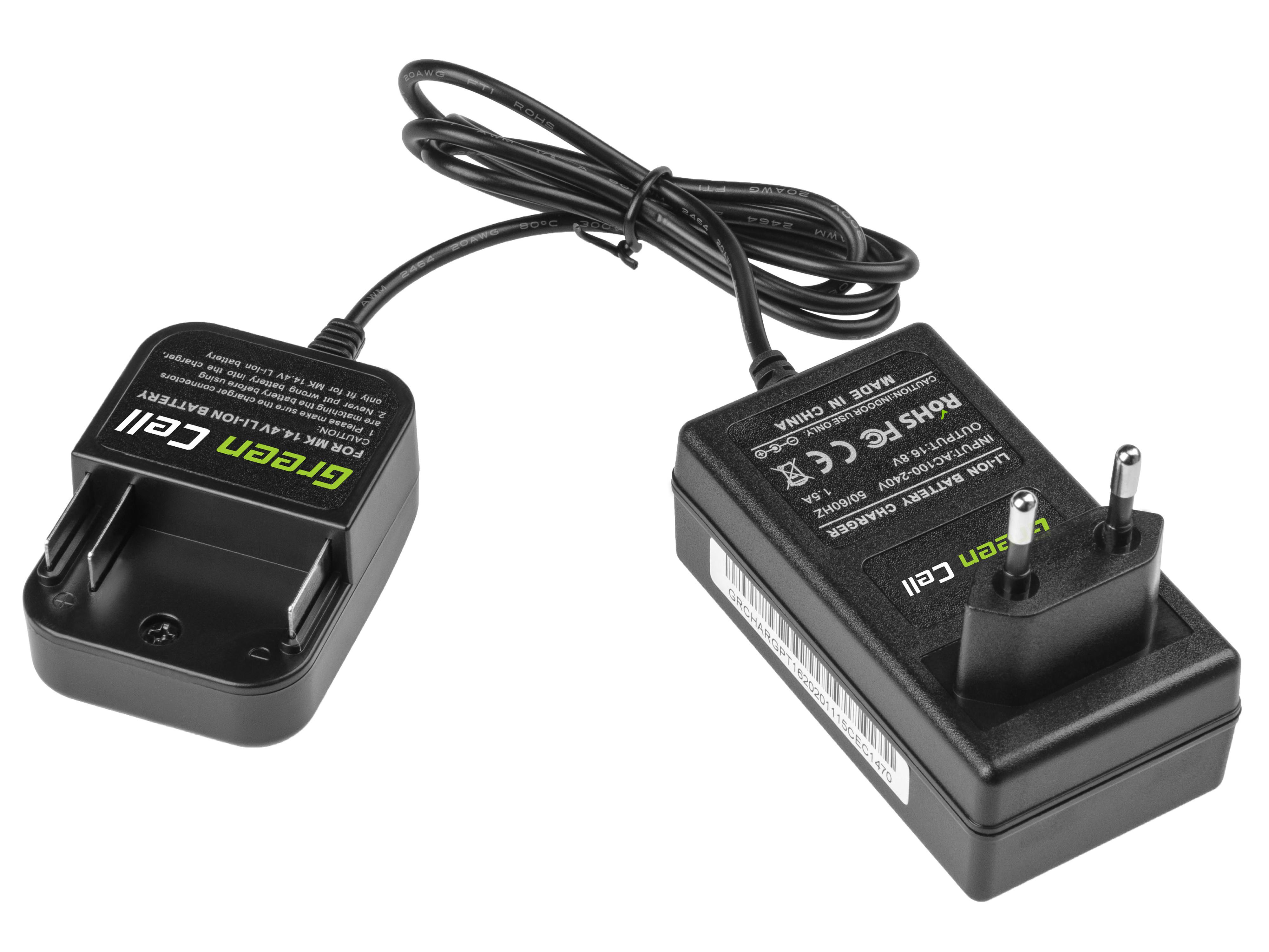 Green Cell CHARGPT16 Adaptér pro Makita Makita 14.4V Li-Ion BL1415 BL1415N BL1430 BL1440 BL1450 L1451