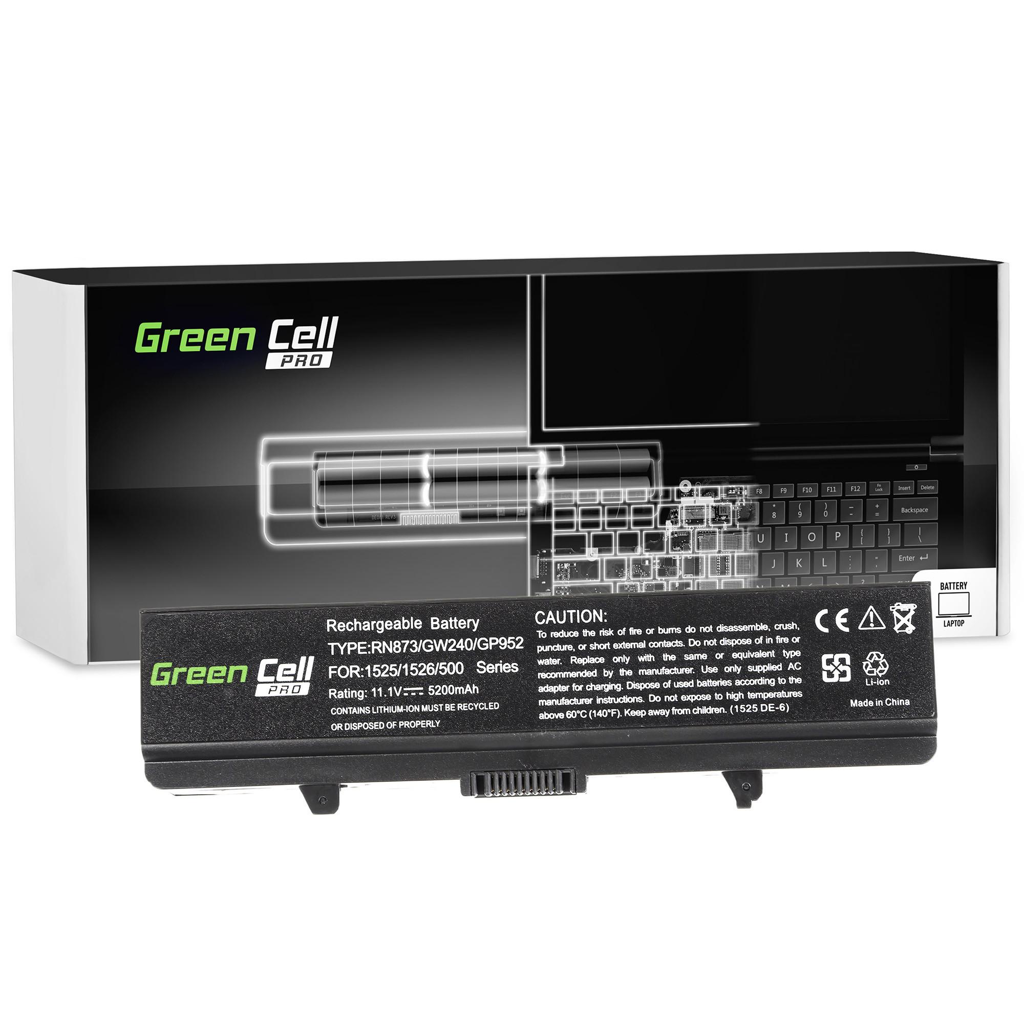 Green Cell DE05PRO Baterie Dell Inspiron 1525 1526 1545 1546 PP29L PP41L 5200mAh Li-ion - neoriginální