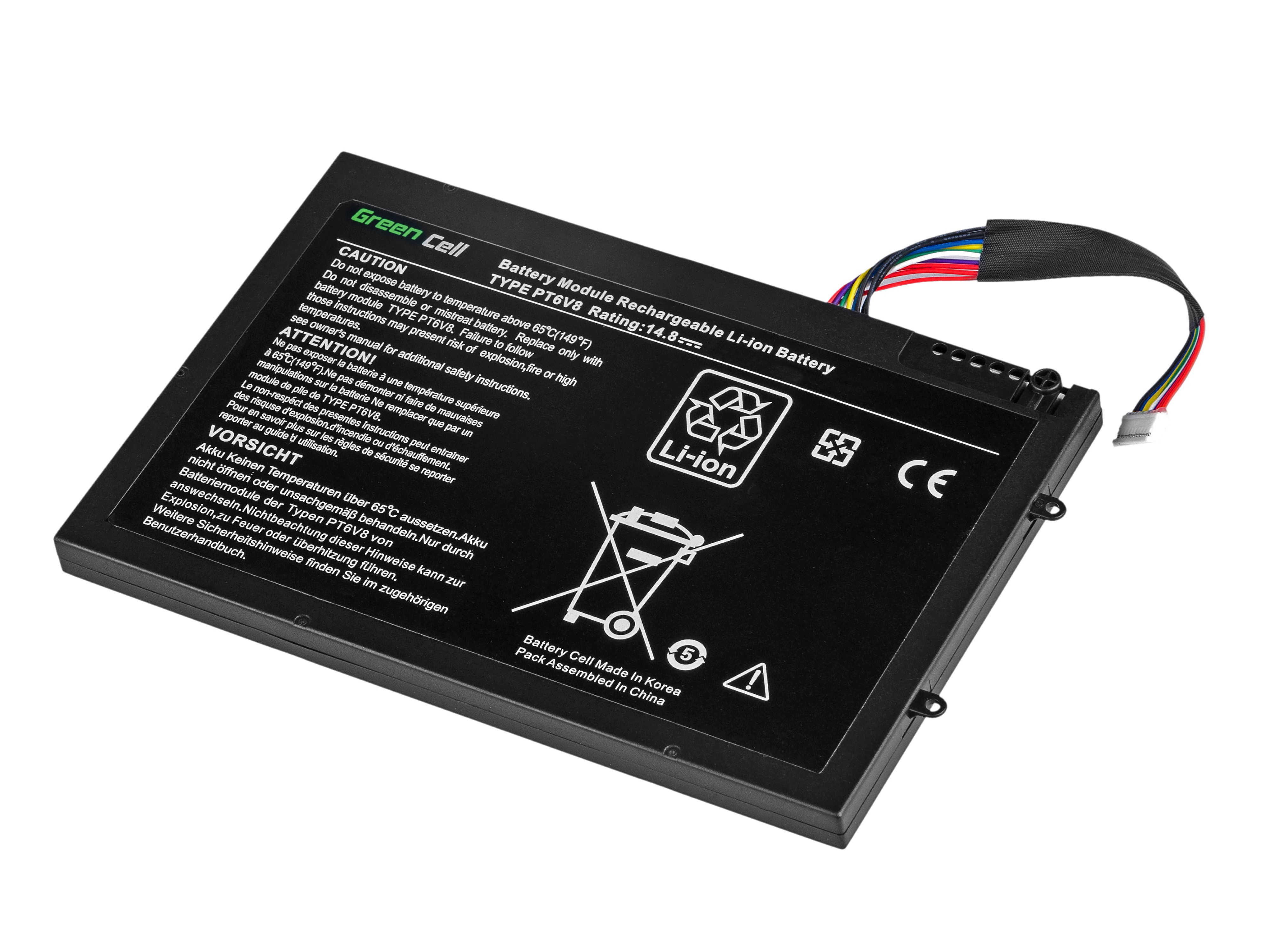 Green Cell DE113 Baterie Dell Alienware M11x R1 R2 R3 M14x R1 R2 R3 63Wh Li-Pol – neoriginální