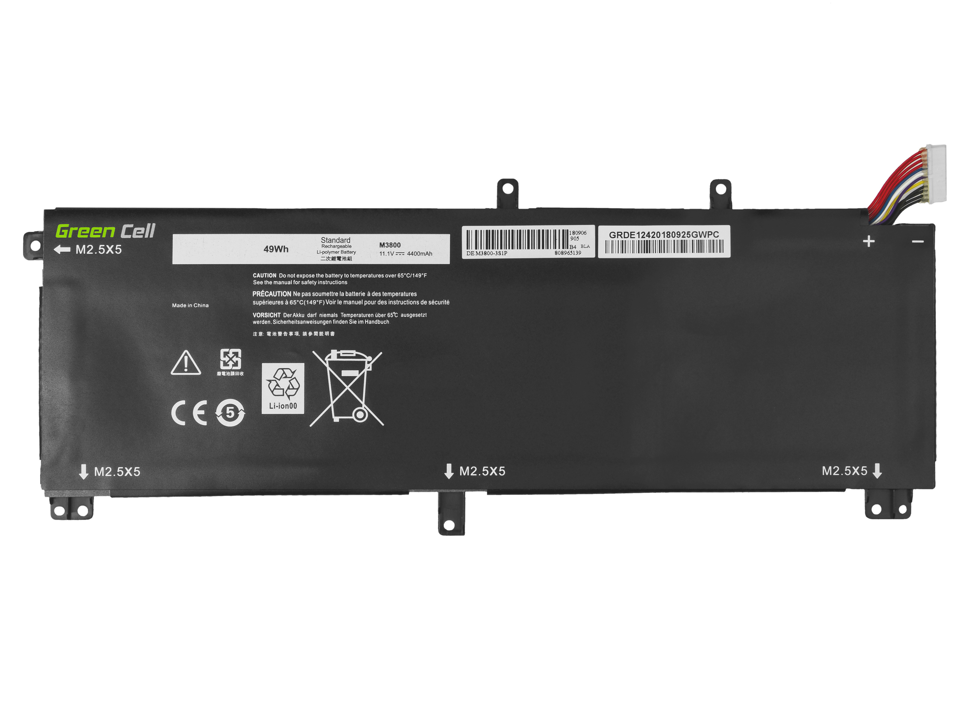 Green Cell Battery for Dell XPS 15 9530, Dell Precision M3800 / 11,1V 4400mAh