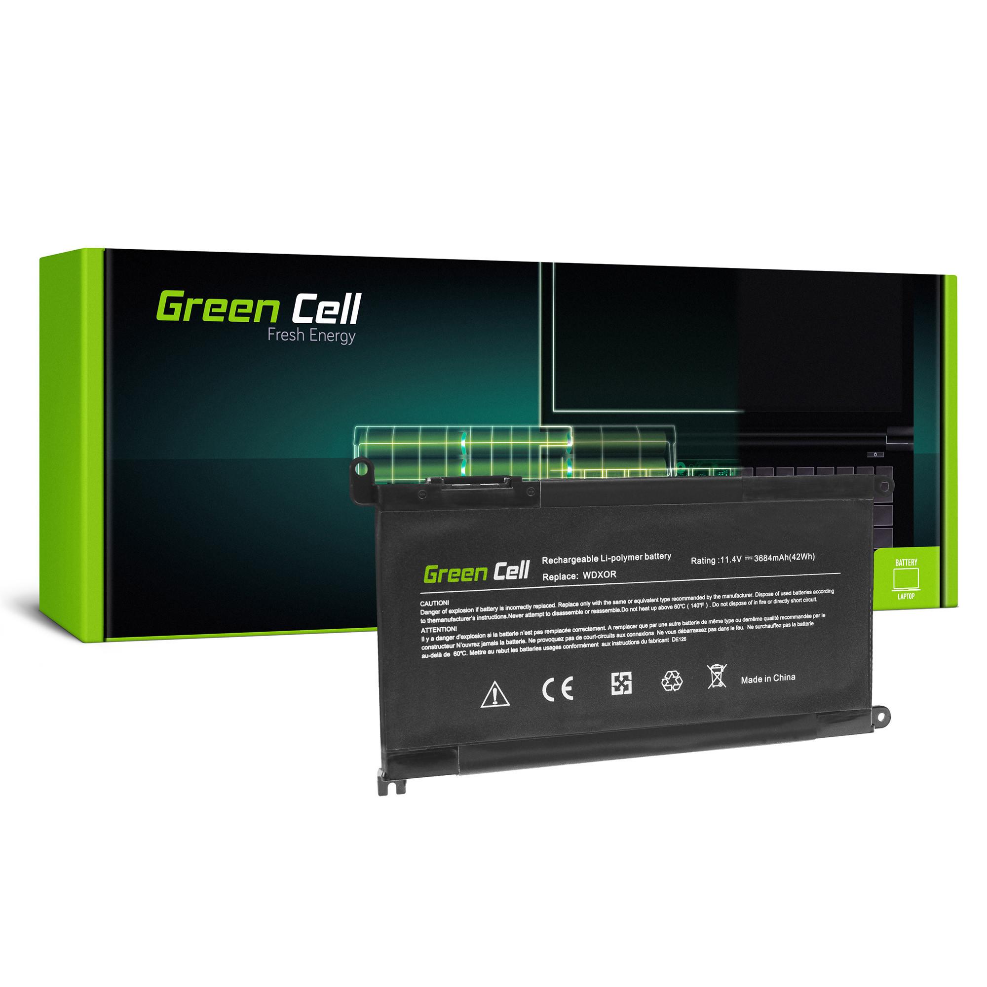 Green Cell DE126 Baterie Dell WDX0R WDXOR, Dell Inspiron 13 5368 5378 5379 14 5482 15 5565 5567 5568 5570 5578 5579 7560 7570 17 5770 3684mAh Li-ion - neoriginální