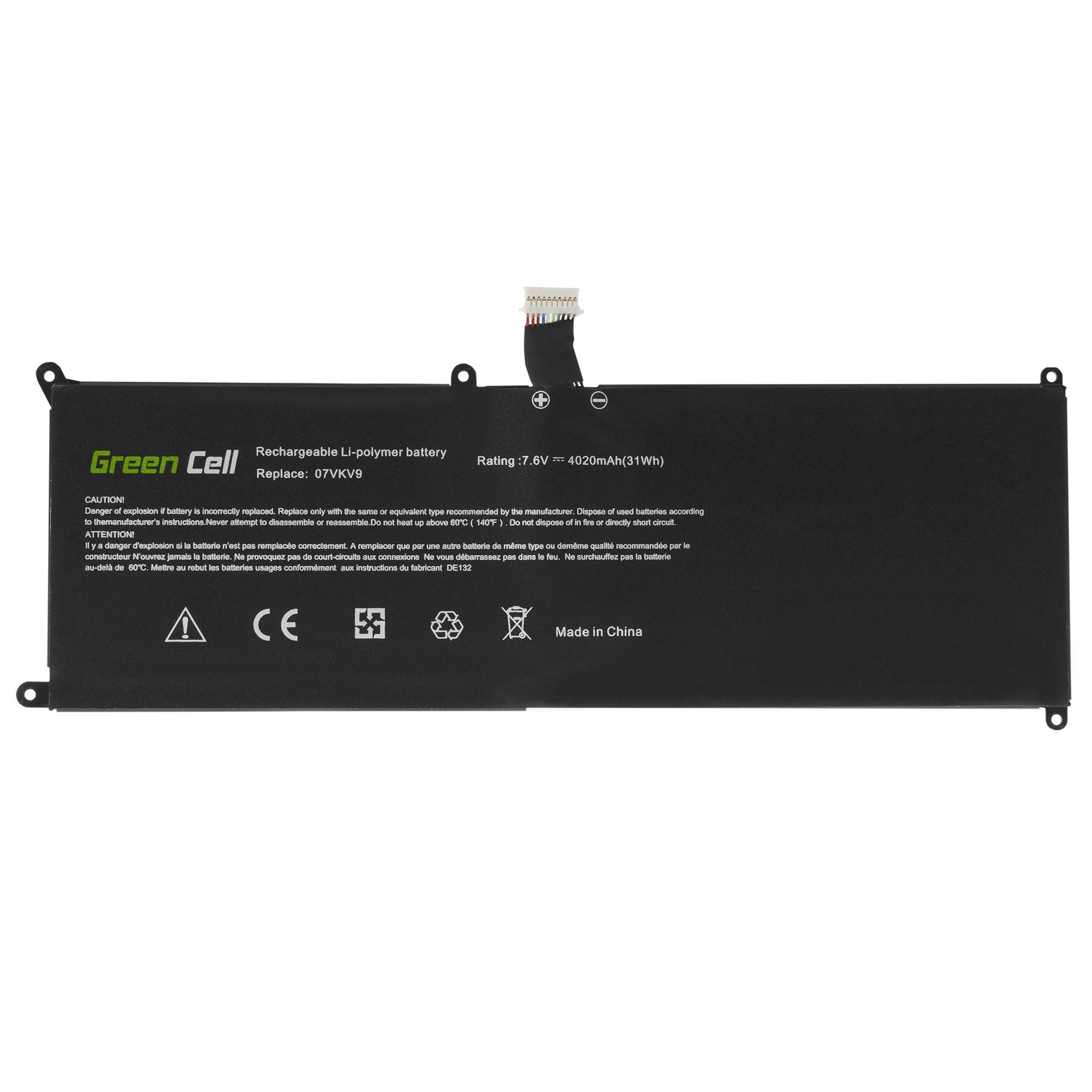 Green Cell Baterie 7VKV9 pro Dell XPS 12 9250, Dell Latitude 12 7275
