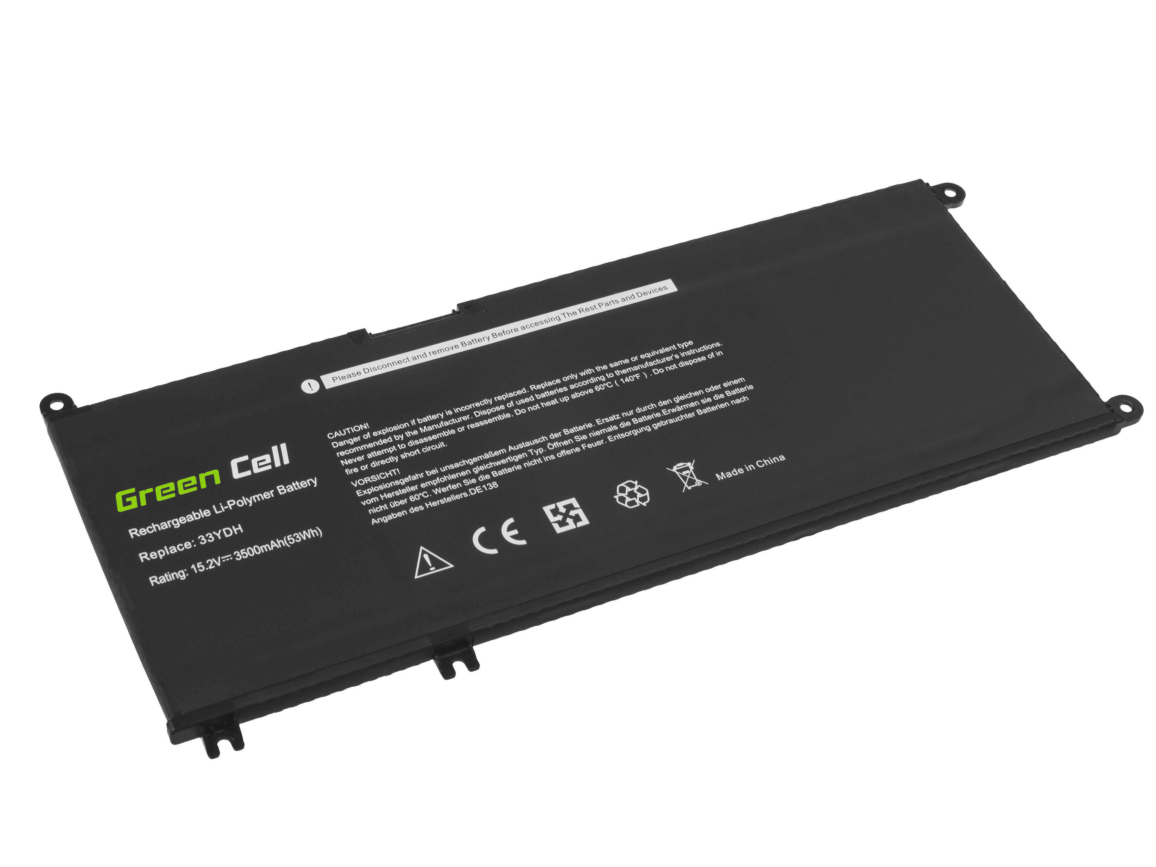 Green Cell Baterie 33YDH pro Dell Inspiron G3 3579 3779 G5 5587 G7 7588 7577 7773 7778 7779 7786 Latitude 3380 3480 3490 3590