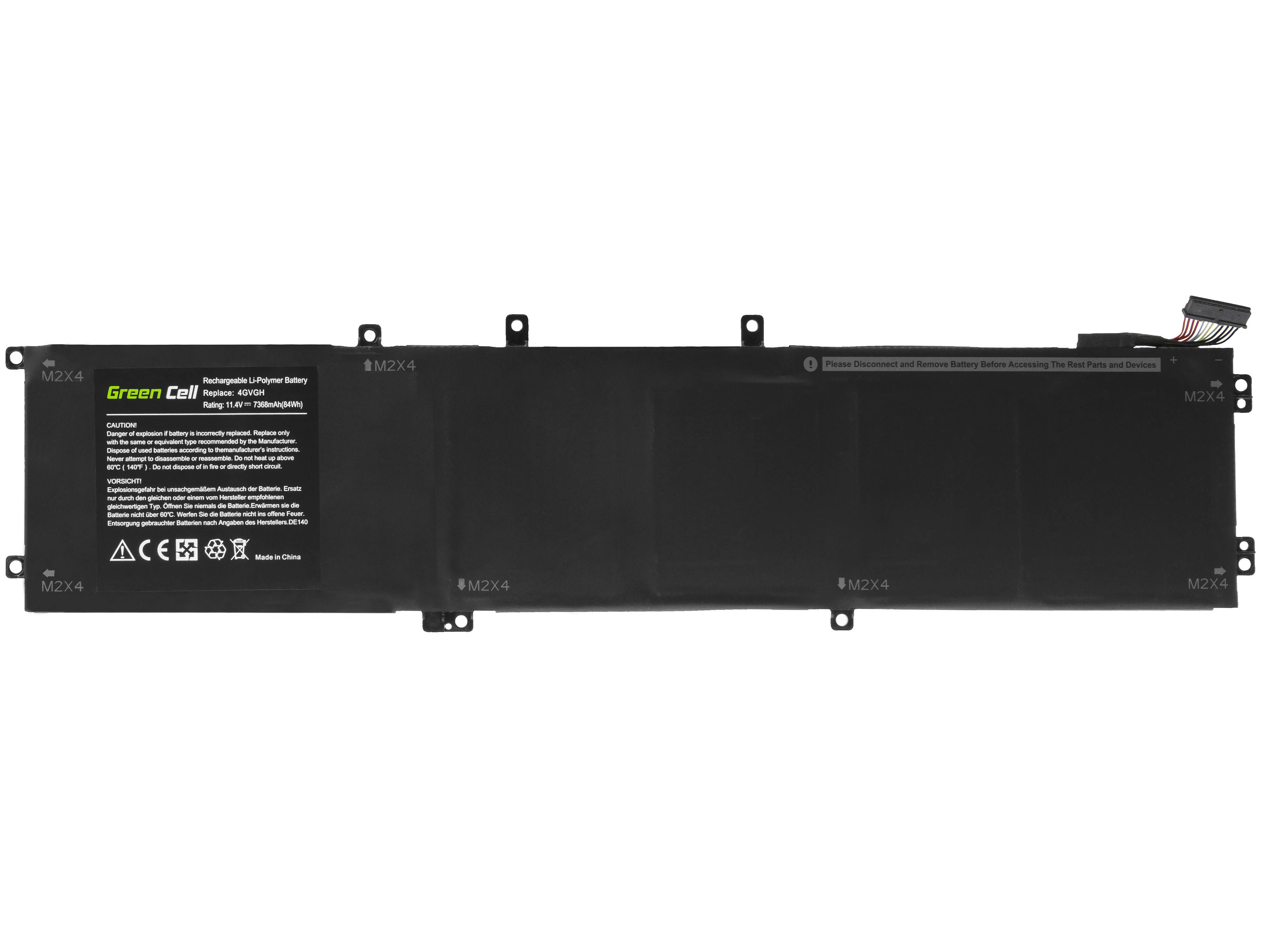Green Cell DE140 Baterie Dell 4GVGH, Dell XPS 15 9550, Dell Precision 5510 7368mAh Li-Pol – neoriginální
