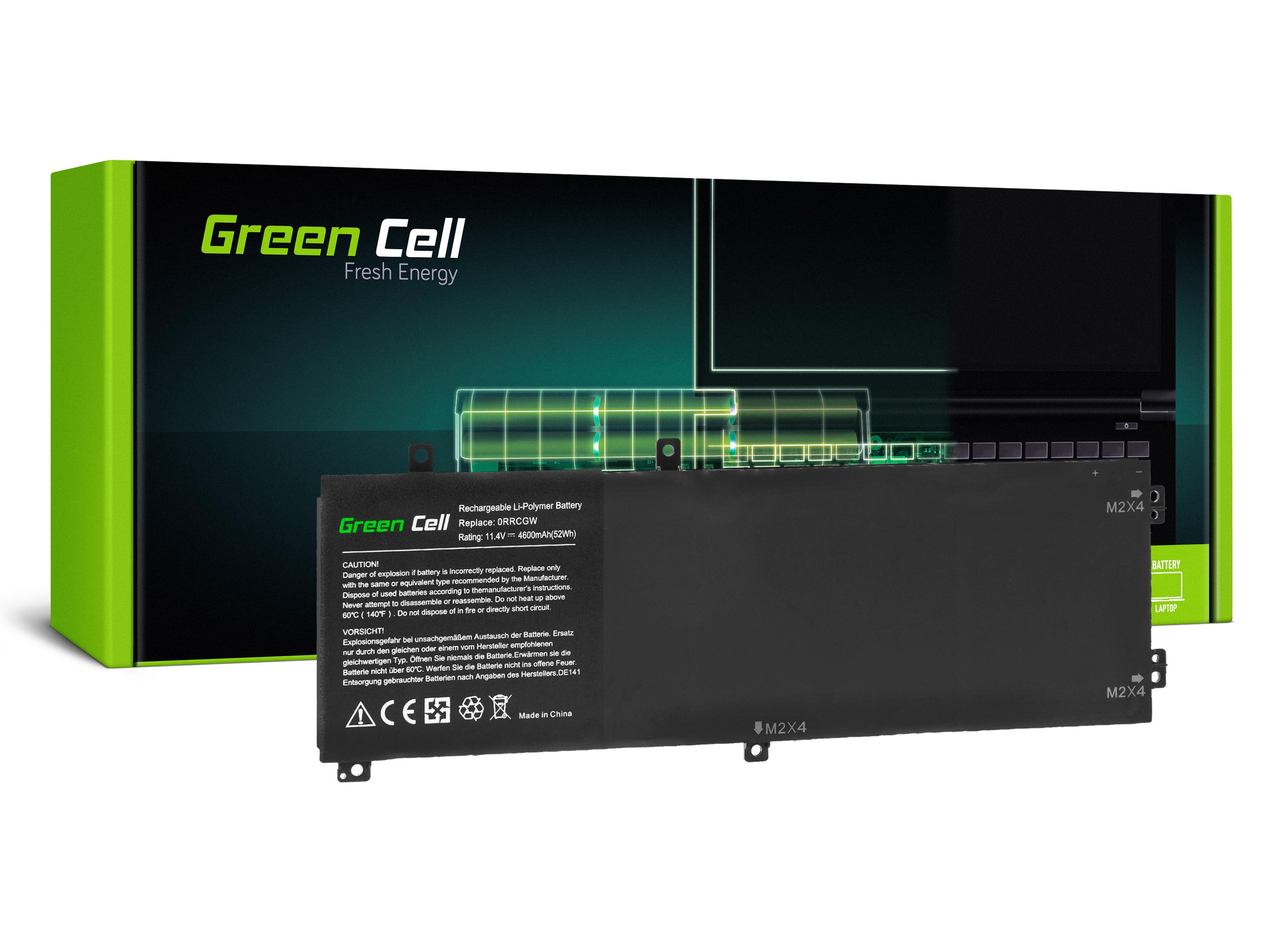 Green Cell DE141 Baterie Dell RRCGW, M7R96 pro Dell XPS 15 9550, Precision M5510 4600mAh Li-Pol – neoriginální