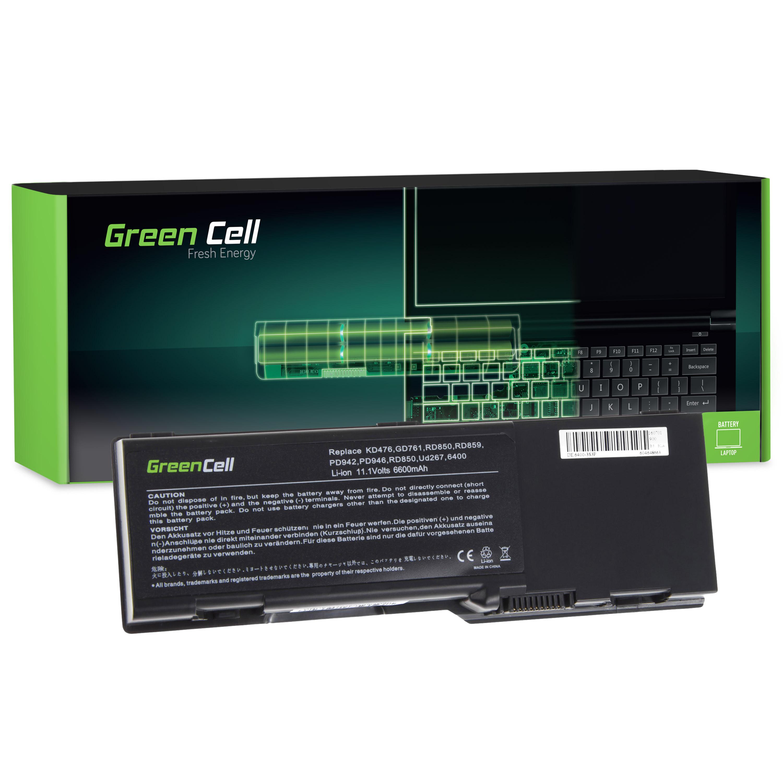 Green Cell DE21 Baterie Dell Vostro 1000 Inspiron E1501 E1505 1501 6400 Latitude 131L 6600mAh Li-ion - neoriginální