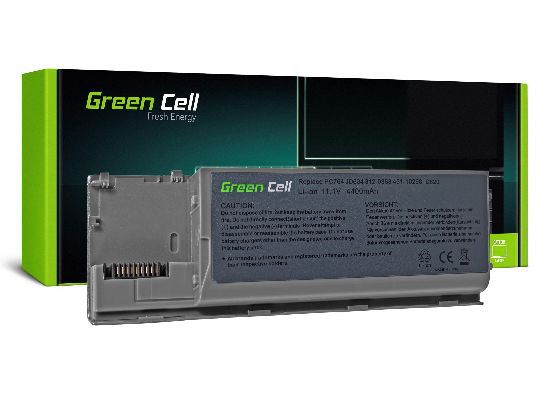 Green Cell DE24 Baterie Dell Latitude D620/D620/D630/D630/D630N/D631 4400mAh Li-ion - neoriginální