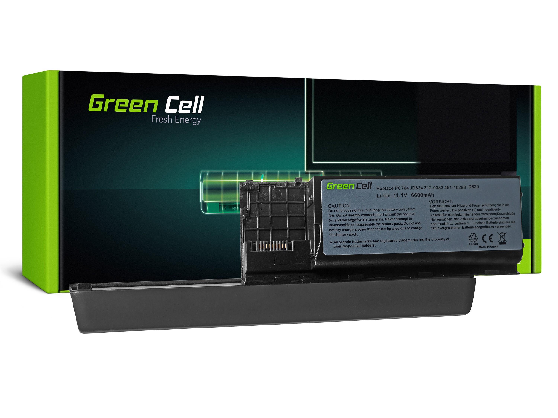 Green Cell DE25 Baterie Dell Latitude D620/D620/D630/D630/D630N/D631 6600mAh Li-ion - neoriginální