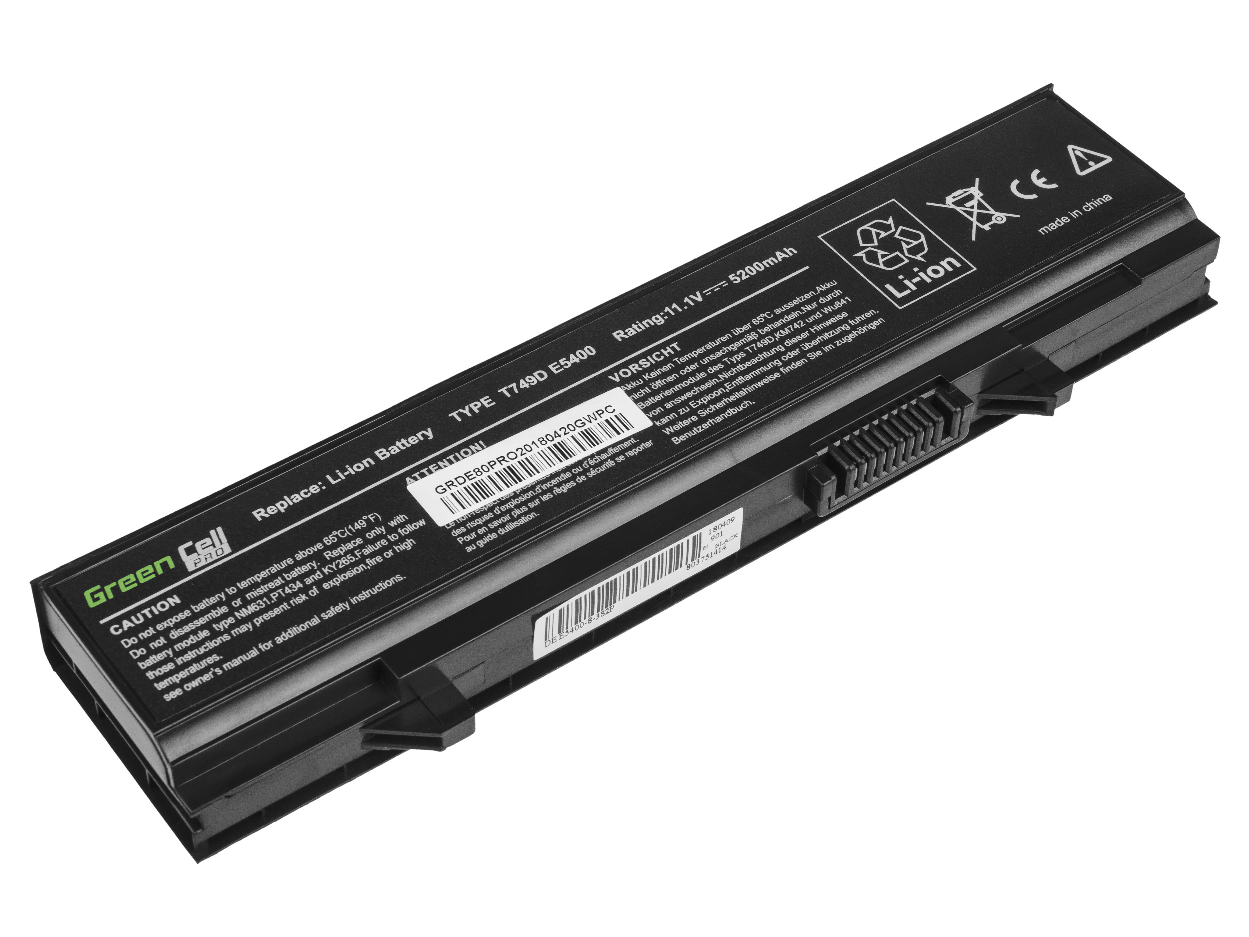 Green Cell PRO Battery for Dell Latitude E5400 E5410 E5500 E5510 / 11,1V 5200mAh