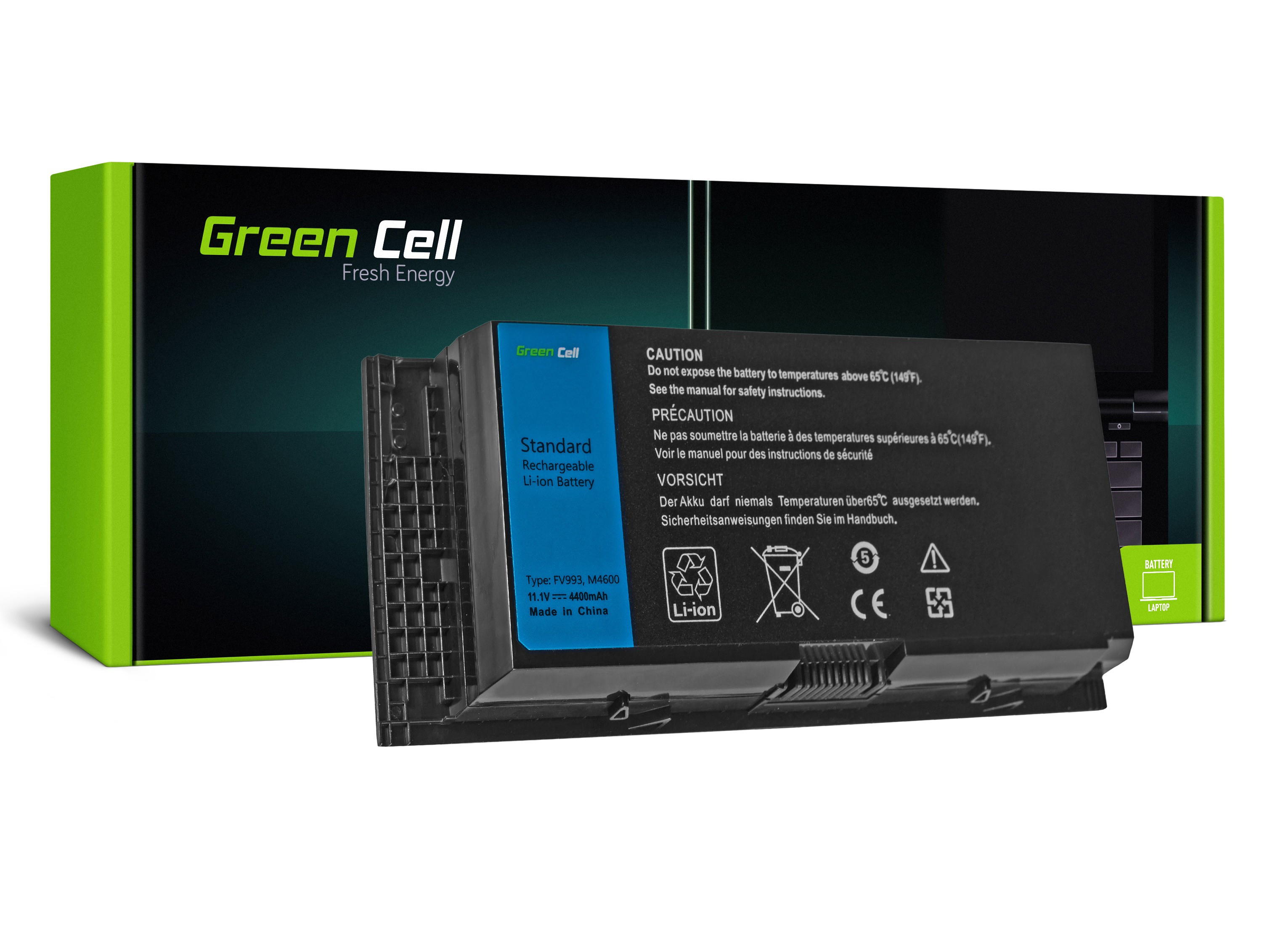 Green Cell Battery for Dell Precision M4600 M4700 M4800 M6600 M6700 / 11,1V 4400mAh