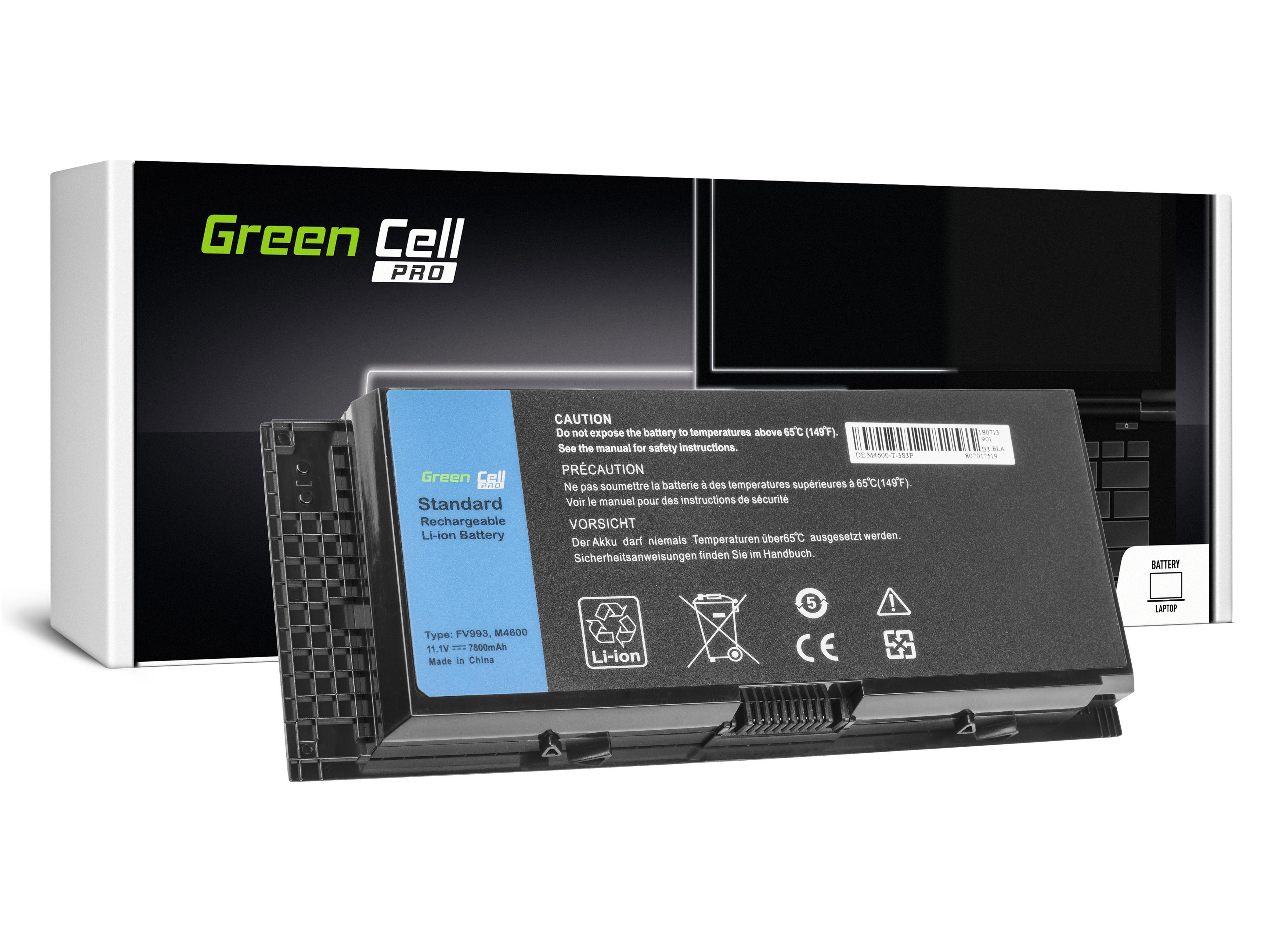 Green Cell DE74PRO Baterie Dell FV993 Dell Precision M4600 M4700 M4800 M6600 M6700 7800mAh Li-ion - neoriginální