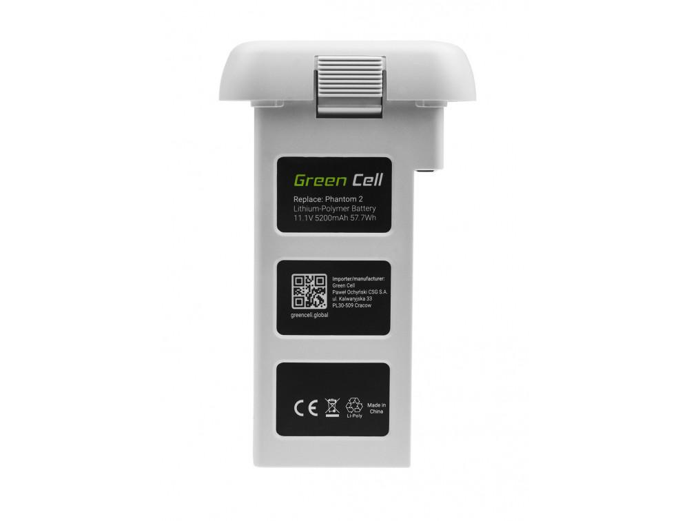 Drone akkumulátor Green Cell DJI PHANTOM 2 DJI PHANTOM VISION 2 6Ah 11.1V