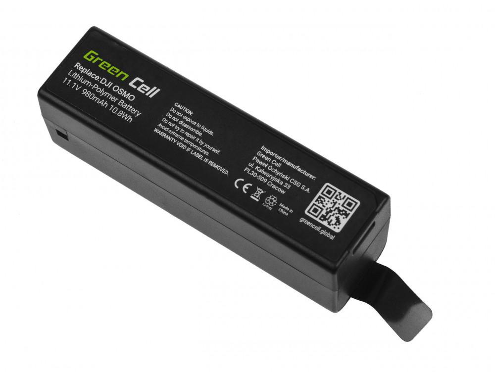 Green Cell akku DJI Osmo, Osmo +, Osmo Mobile, Osmo Pro 11.1V 980mAh 10.8Wh
