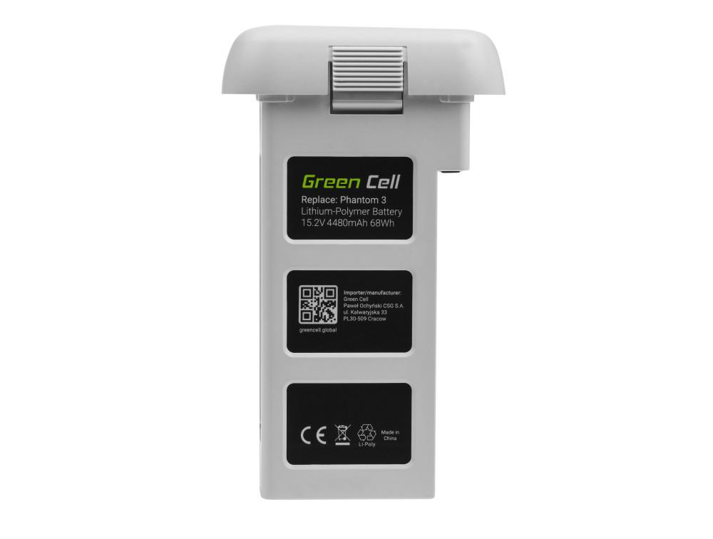 Green Cell Drone Akkumulátor DJI Phantom 3 15.2V 4480mAh 68Wh