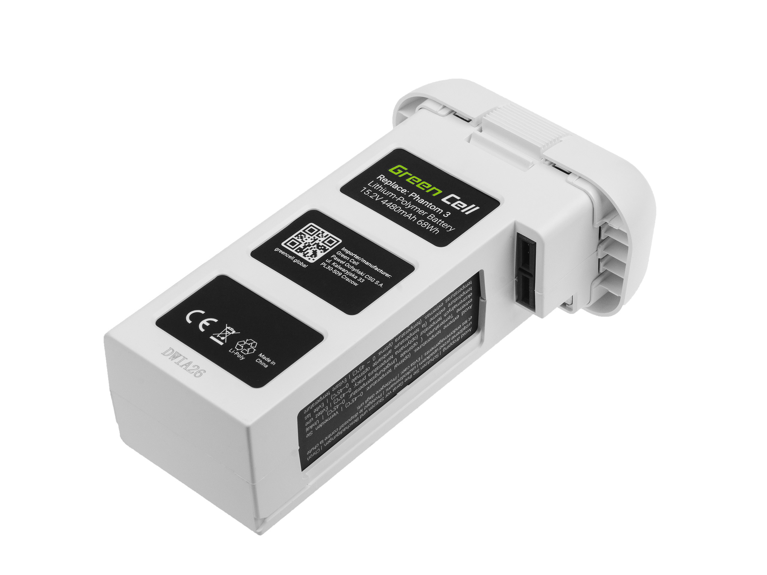 Green Cell Drone Baterie pro DJI Phantom 3 15.2V 4480mAh 68Wh