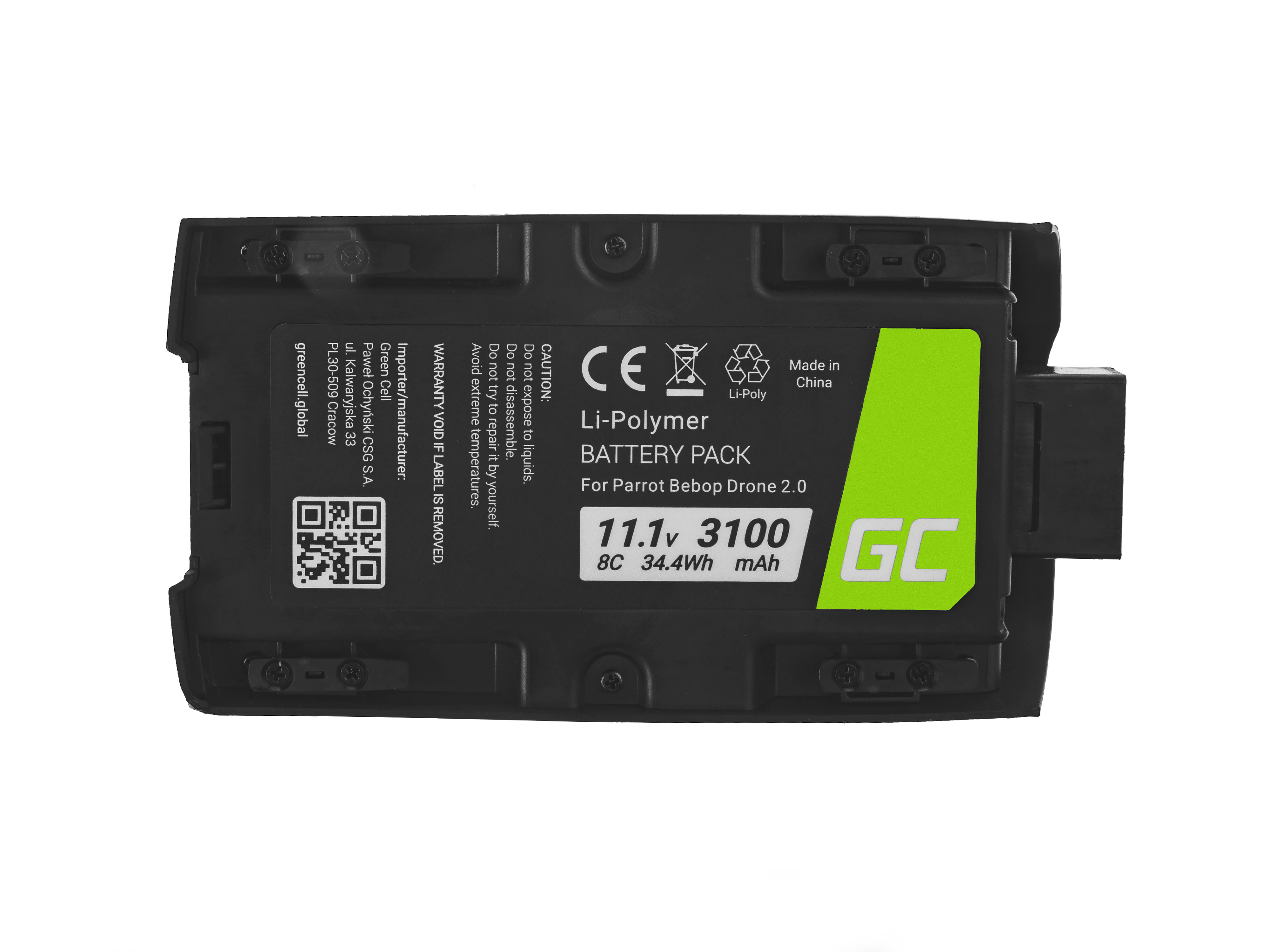 Green Cell DJI08 Baterie Parrot Bebop 2 11.1V 3100mAh