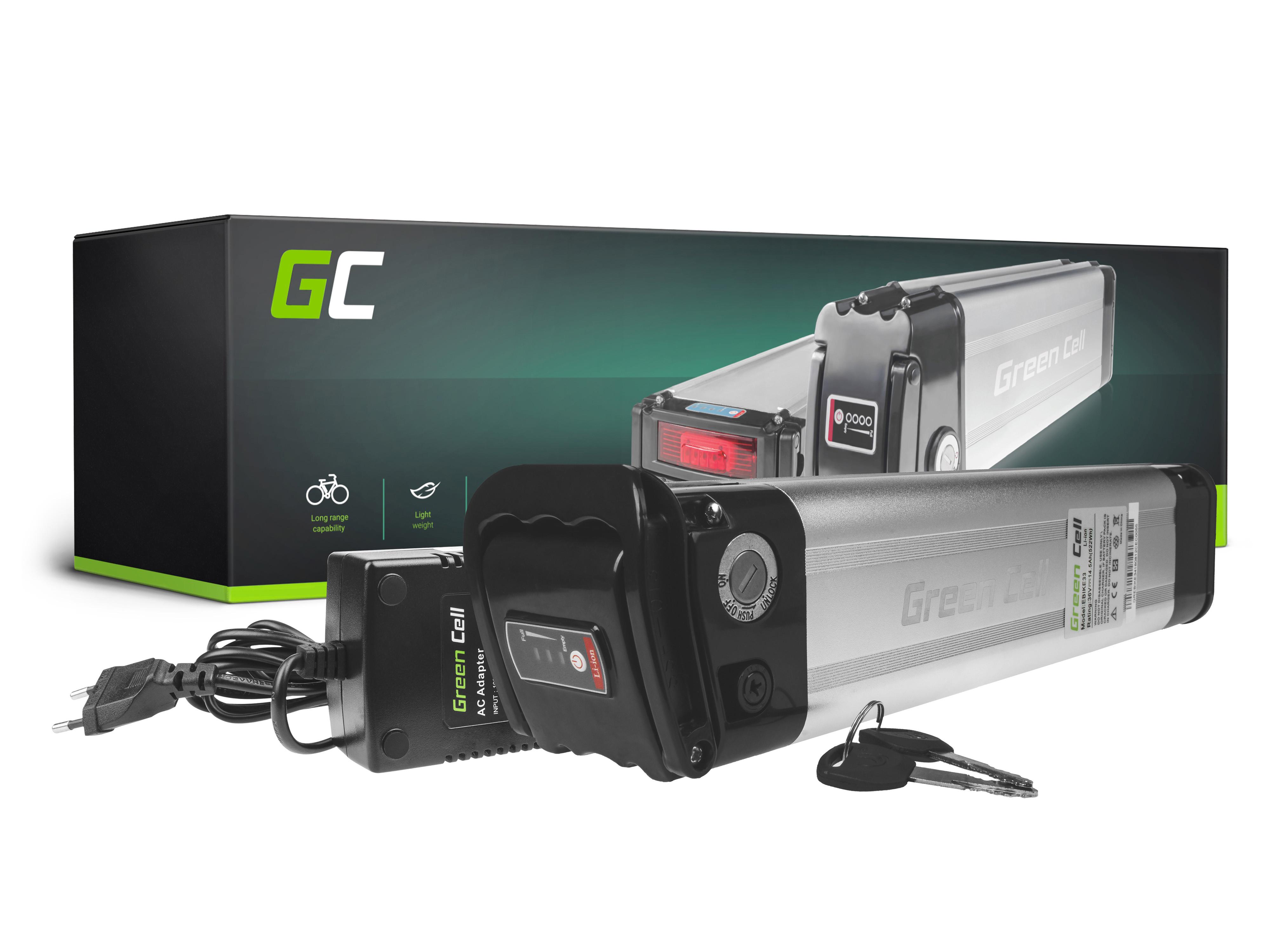 Green Cell eBike Baterie Silverfish 36V 14,5Ah 522Wh E-Bike Pedelec