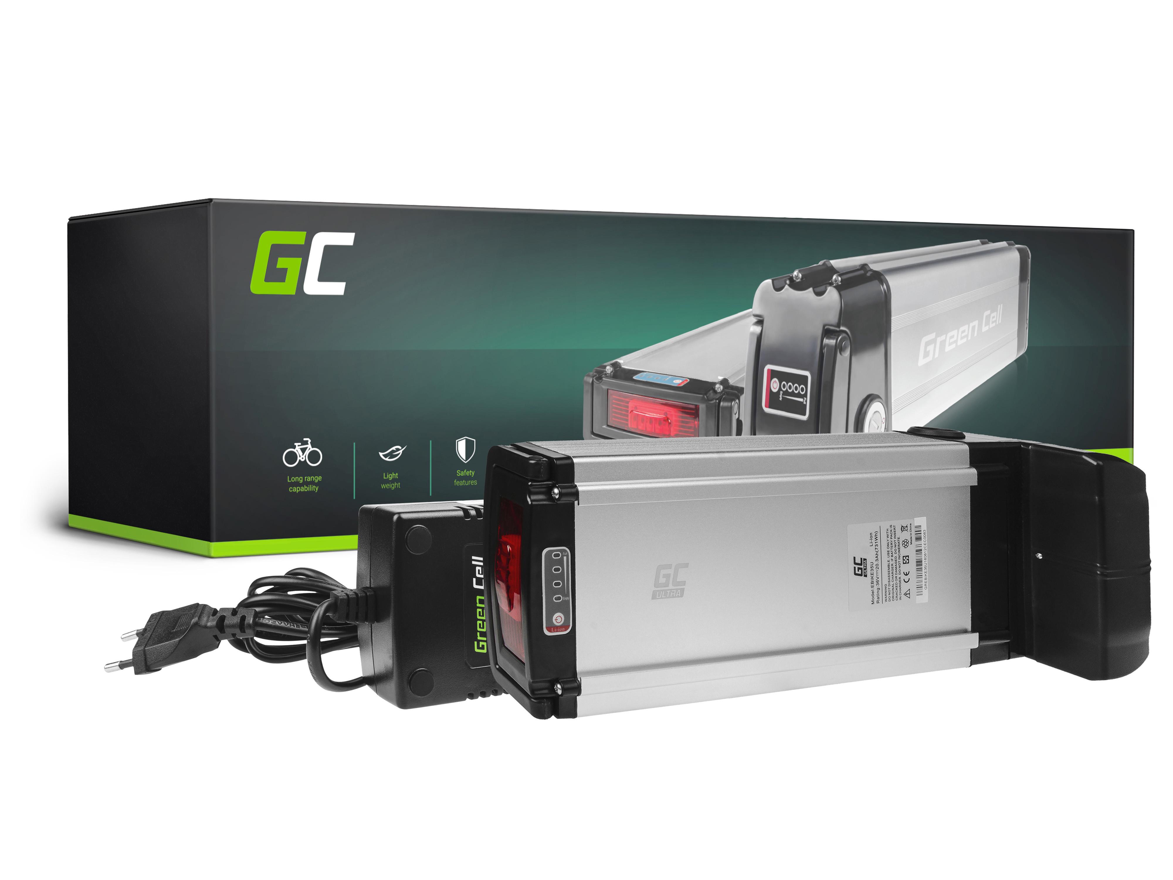 Green Cell eBike Baterie Rear Rack 36V 20,3Ah 731Wh E-Bike Pedelec