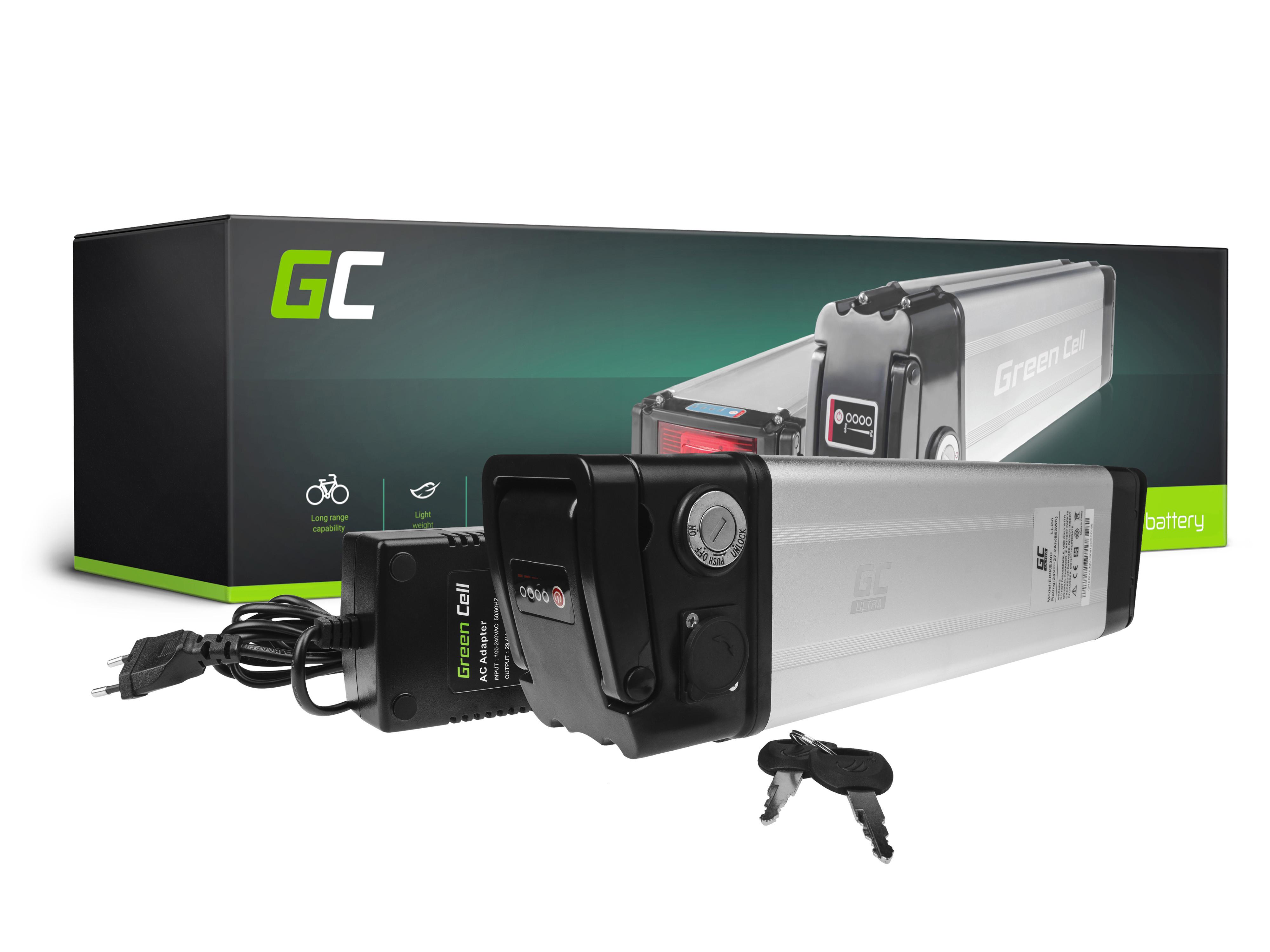 Green Cell eBike Battery Silverfish 24V 27,2Ah 653Wh E-Bike Pedelec