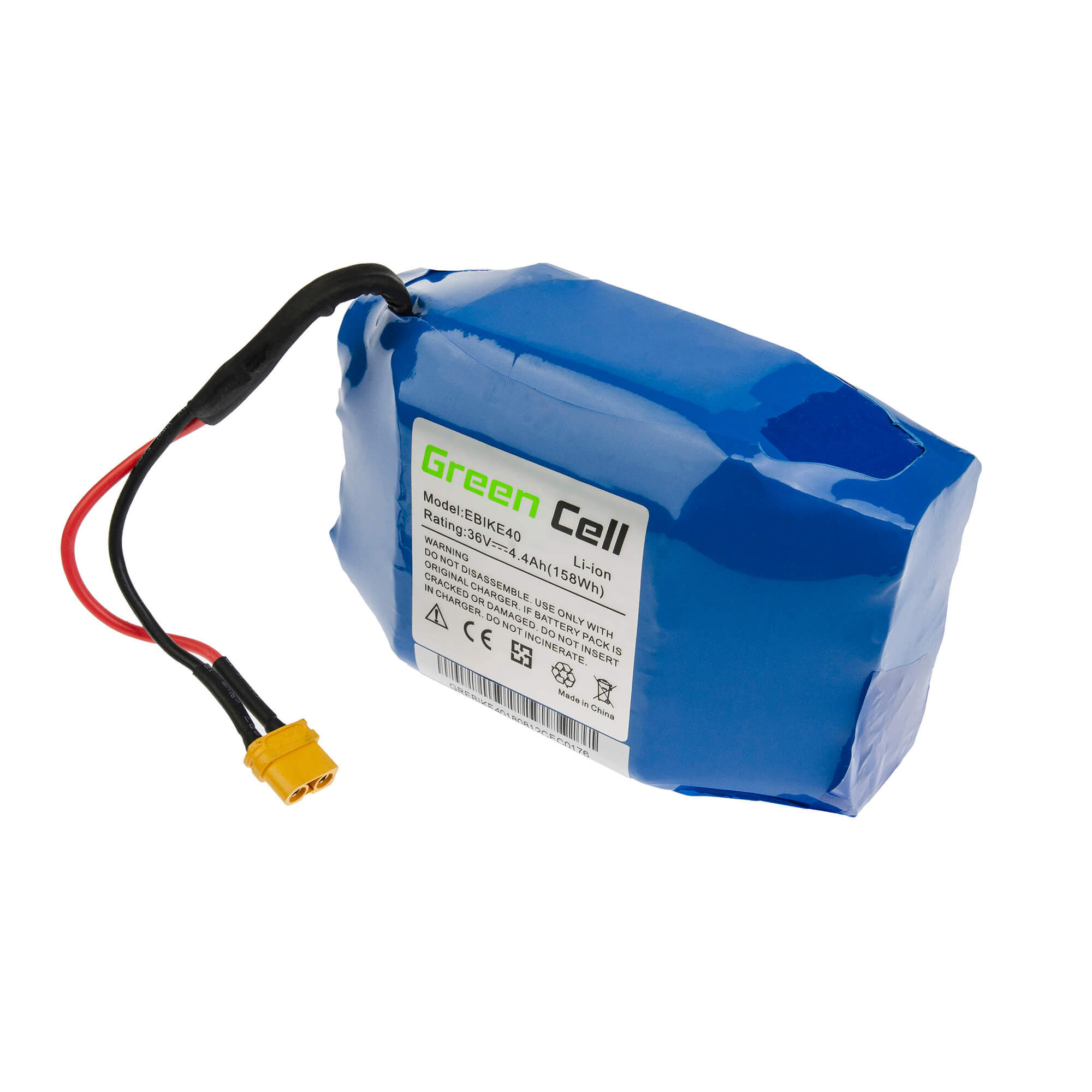 Green Cell Battery for Hoverboard, electric board 36V 4,4Ah 158Wh