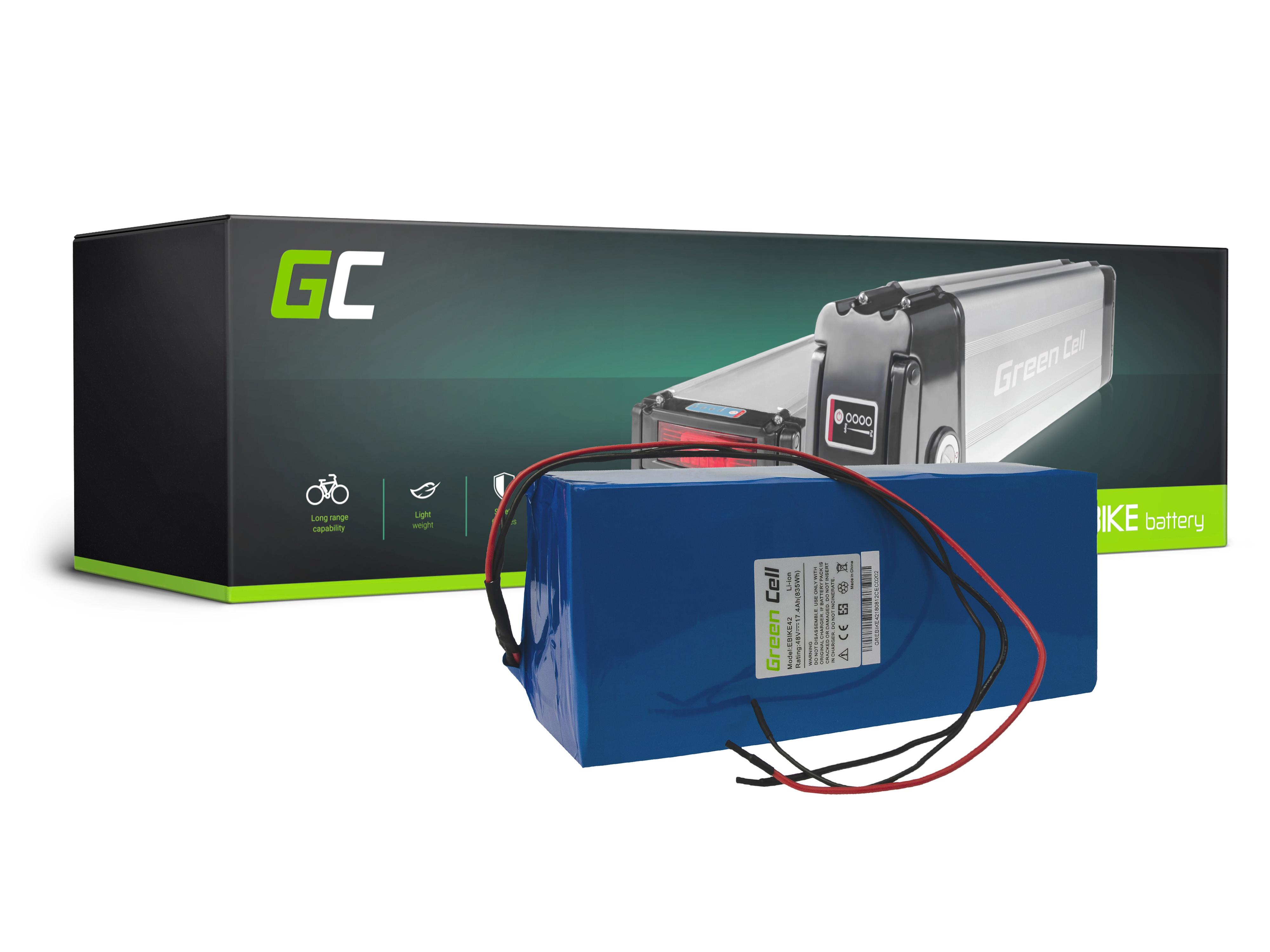 Green Cell eBike Battery Battery Pack 48V 17,4Ah 835Wh E-Bike Pedelec
