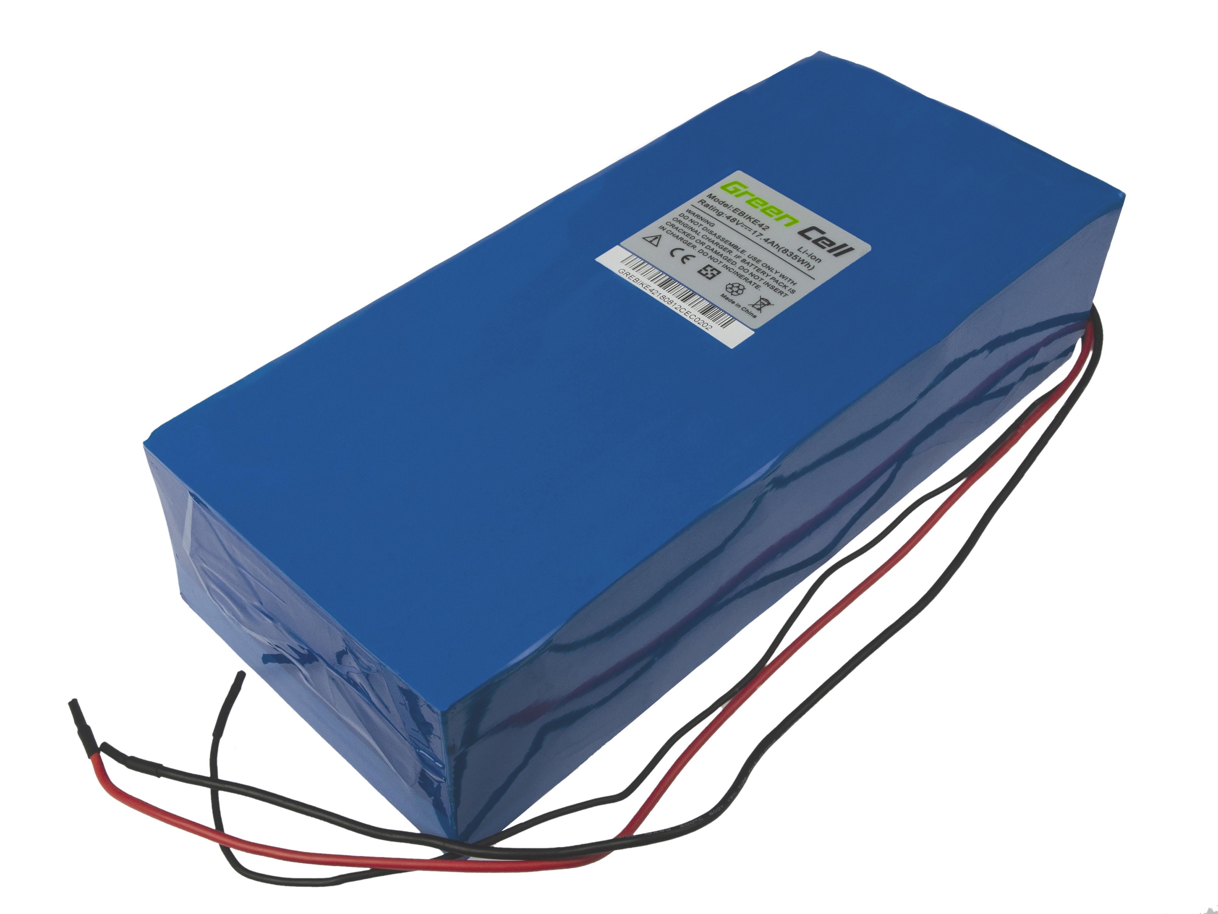 Green Cell eBike Baterie Battery Pack 48V 17,4Ah 835Wh E-Bike Pedelec