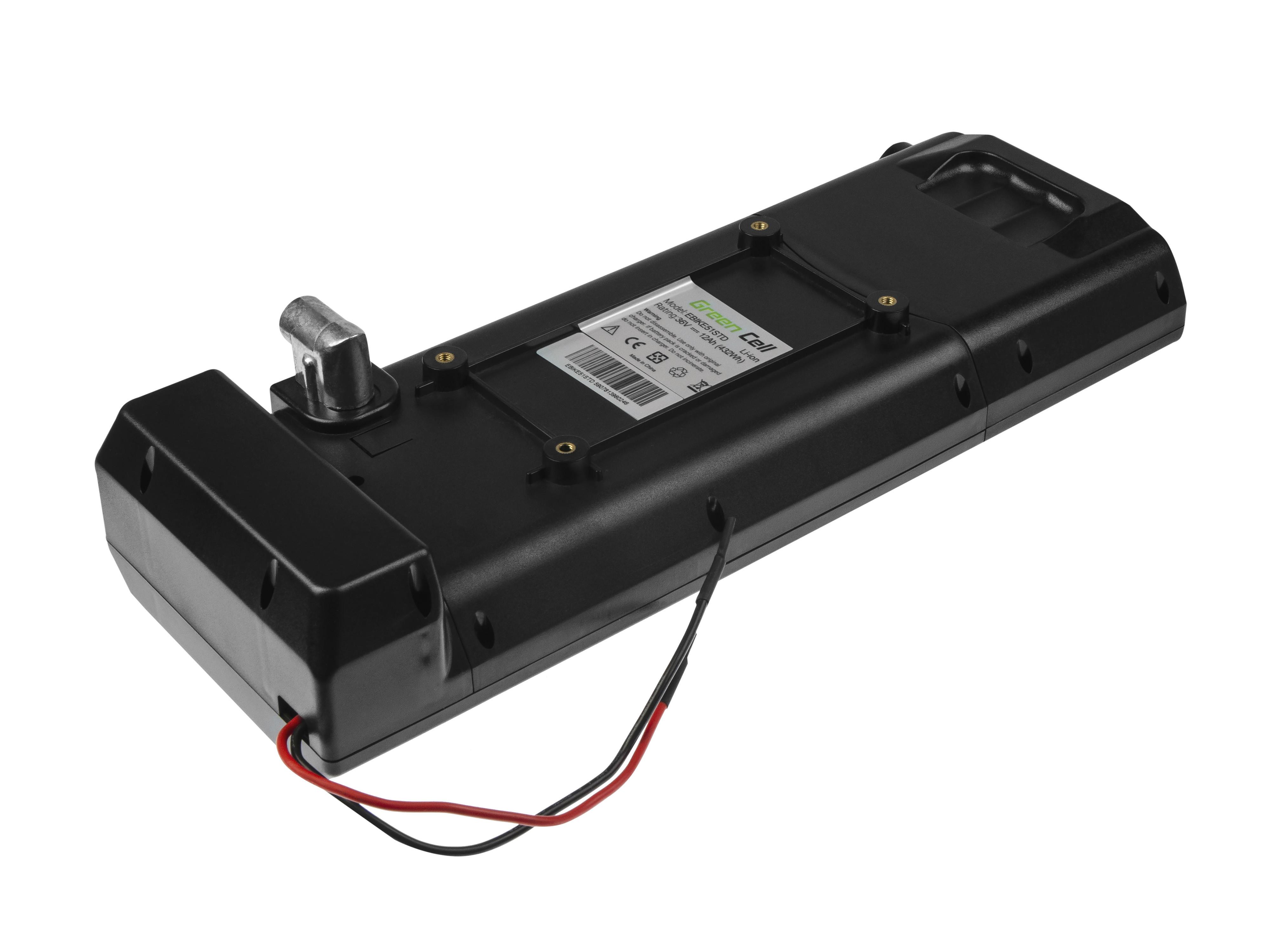 Green Cell Battery 36V 12Ah 432Wh Rear Rack for E-Bike Pedelec