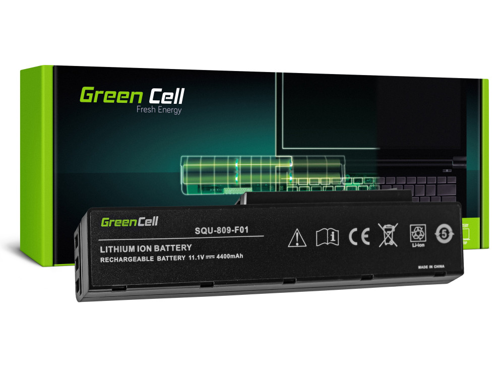 Green Cell akkumulátor Fujitsu-Siemens Esprimo Amilo Li3710 Li3910 Pi3560 Pi3660 / 11,1V 4400mAh