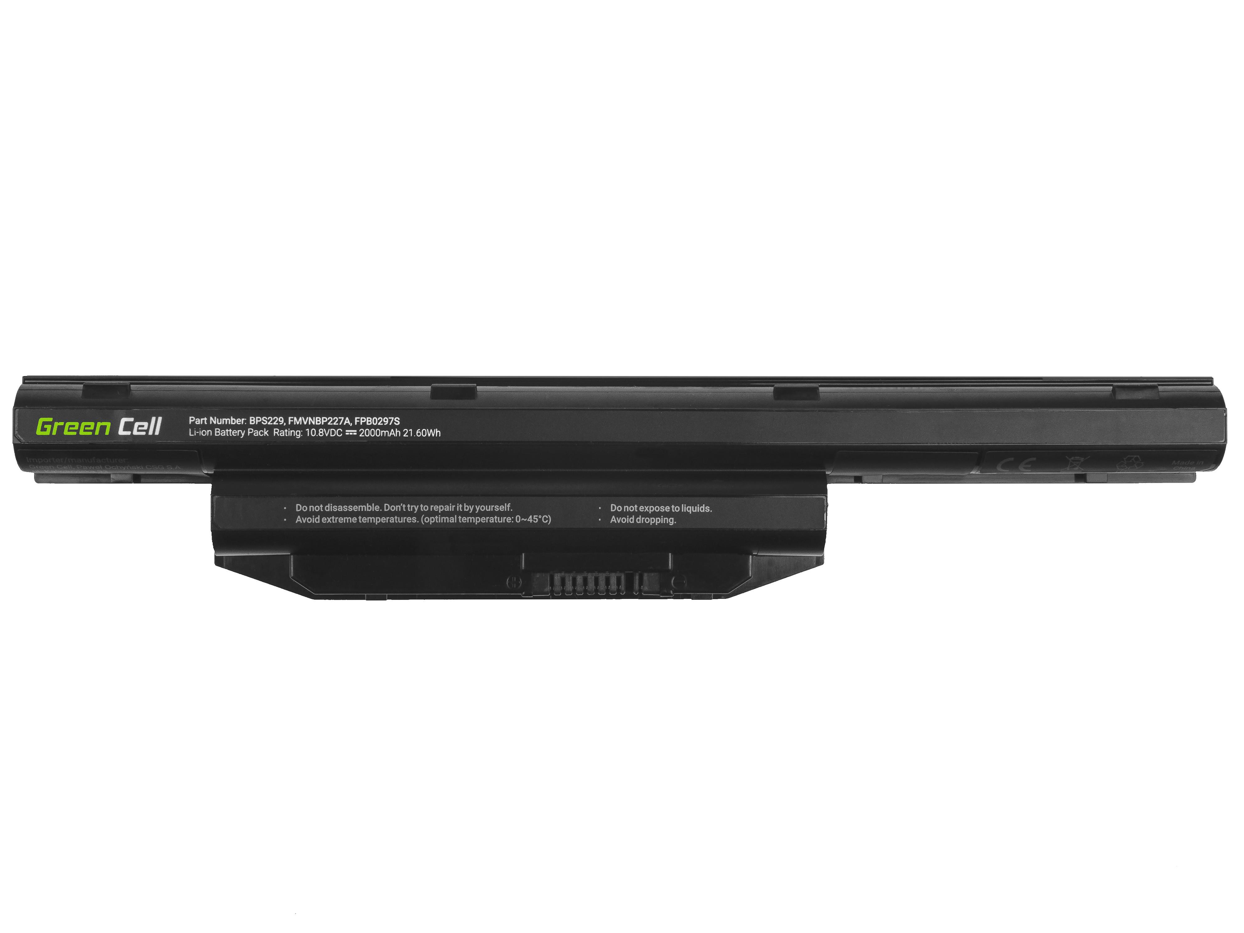 Green Cell Laptop Baterie Baterie pro Fujitsu LifeBook A514 A544 A555 AH544 AH564 E547 E554 E733 E734 E743 E744 E746 E753 E754 S904