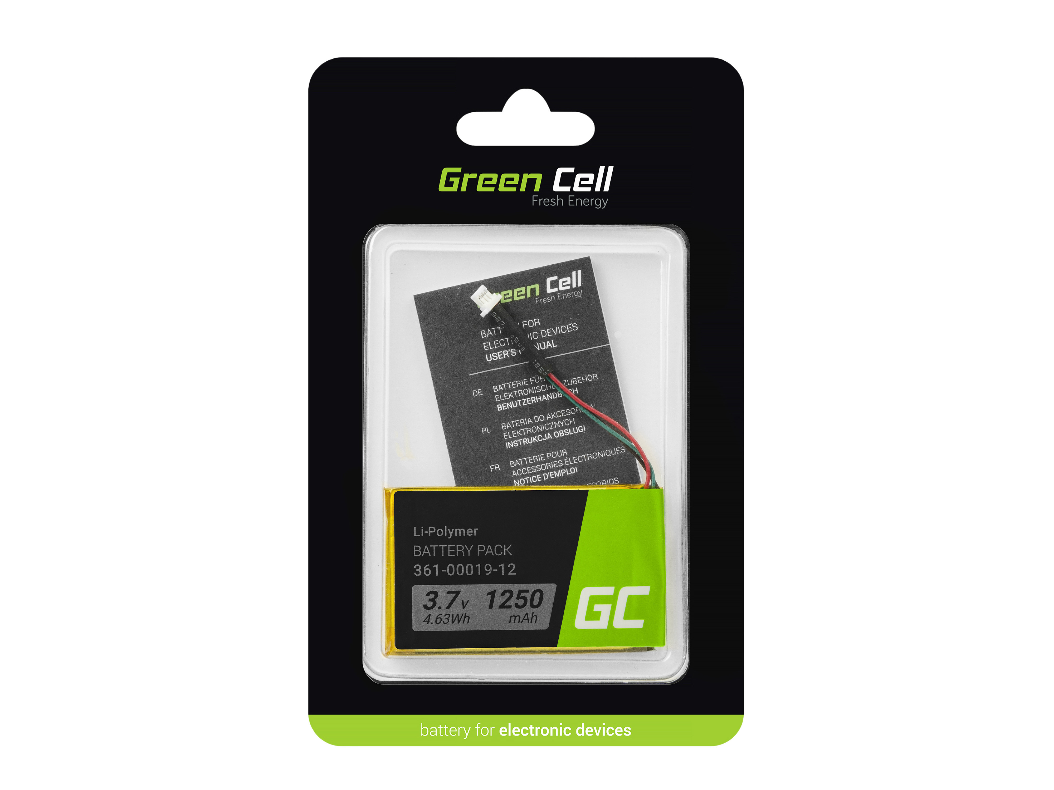 Green Cell GPS Baterie 361-00019-11 361-00019-16 Garmin Edge 605 705 Nuvi 200 285WT 710 1300 1350T