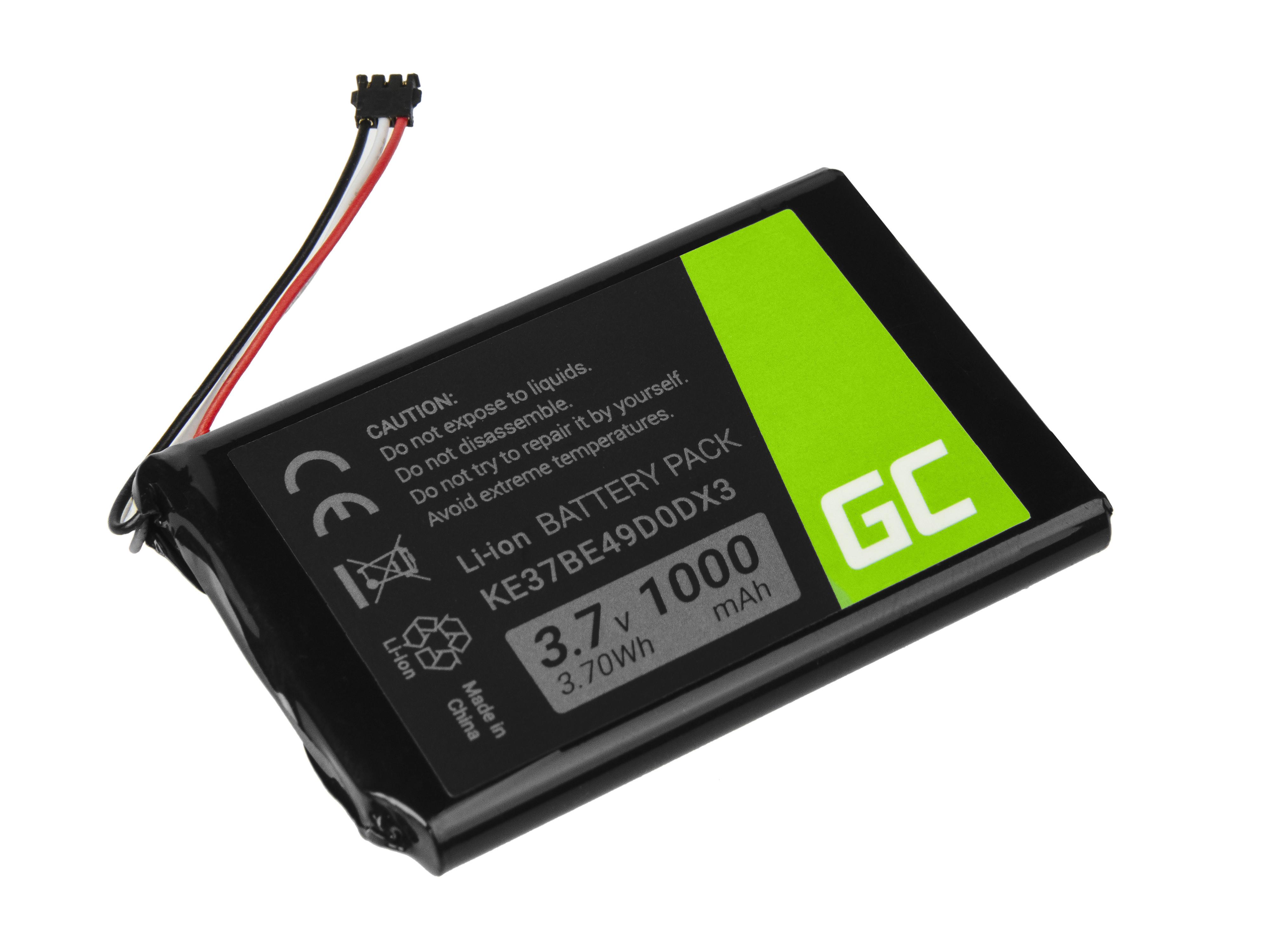 Green Cell Baterie Garmin E37BE49D0DX3 pro GPS Garmin Edge 800 810 Nuvi 1200 1260 2300 2460 2475 2515 2789LMT 1000mAh Li-ion - neoriginální