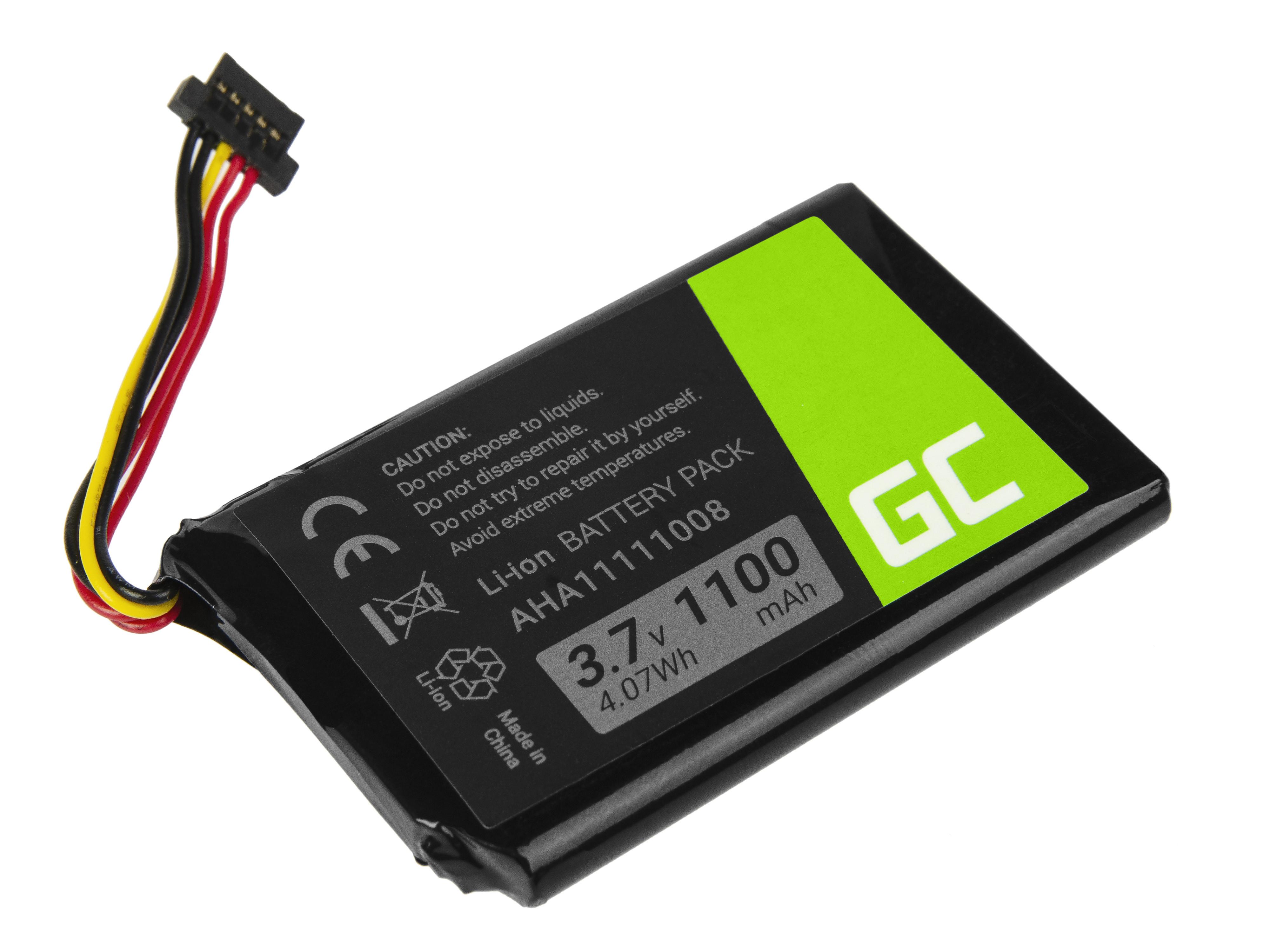 Green Cell Baterie TomTom AHA11111008 pro GPS TomTom Go 540 5000 5100 5250 Pro 6000 6200 Truck 5250 Trucker 5000 1100mAh Li-ion - neoriginální