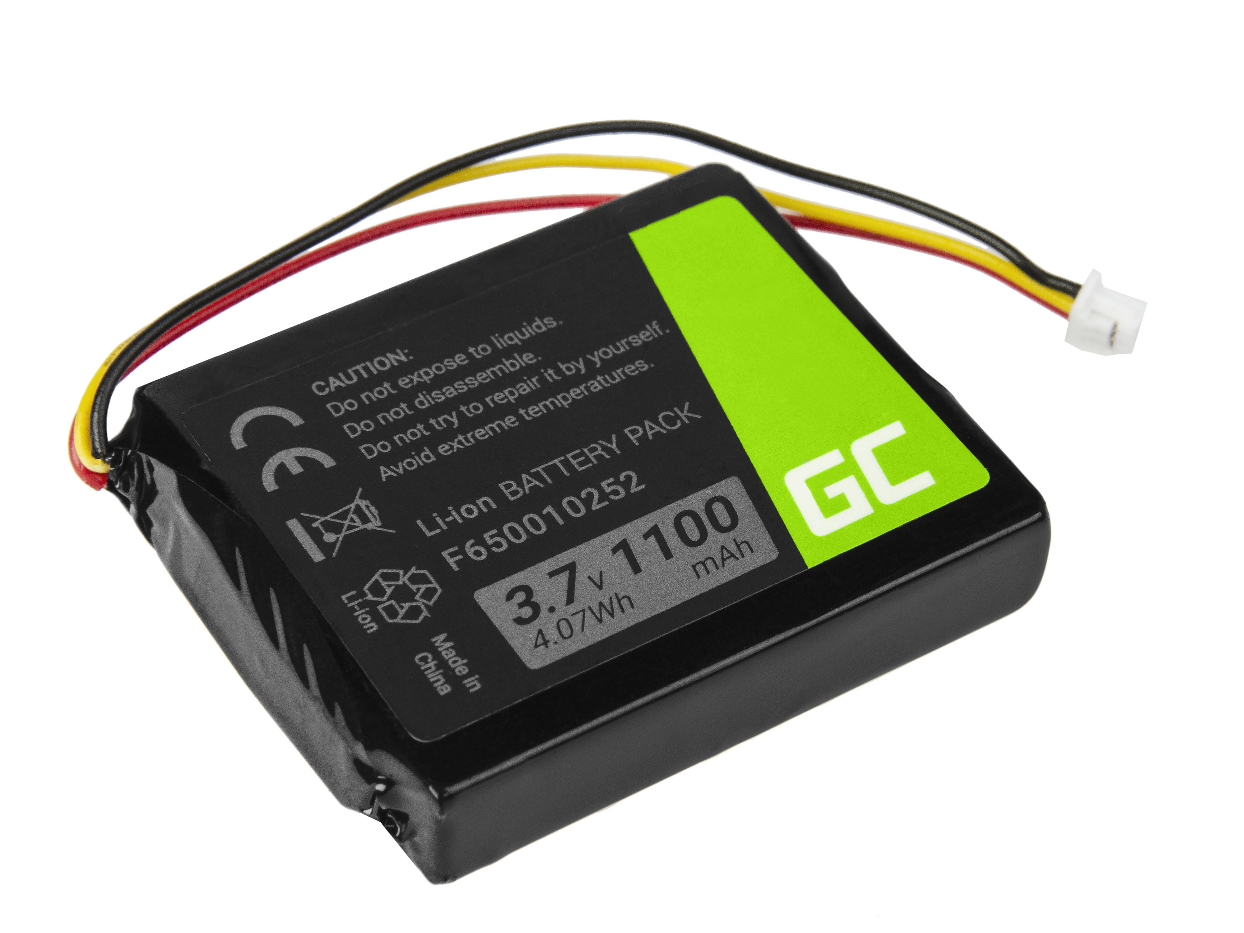 Green Cell Baterie TomTom F650010252 pro GPS TomTom NVT2B225 One Europe V2 V3 V5 One XL IQ Regional S4l Rider 1100mAh Li-ion - neoriginální