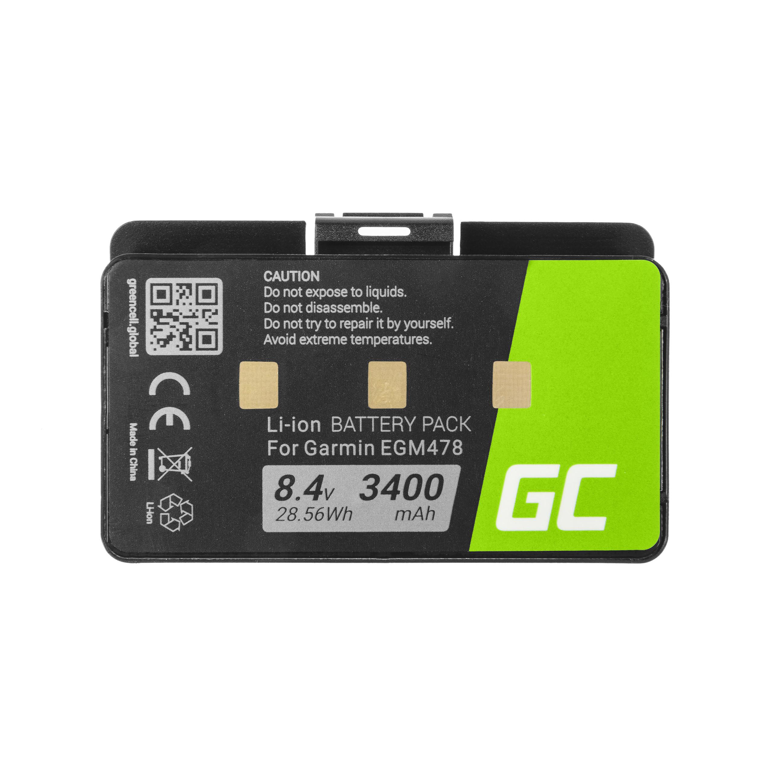 Green Cell 010-10517-00 011-00955-00 GPS Baterie pro Garmin GPSMAP 276 296 376 376c 396 495 496