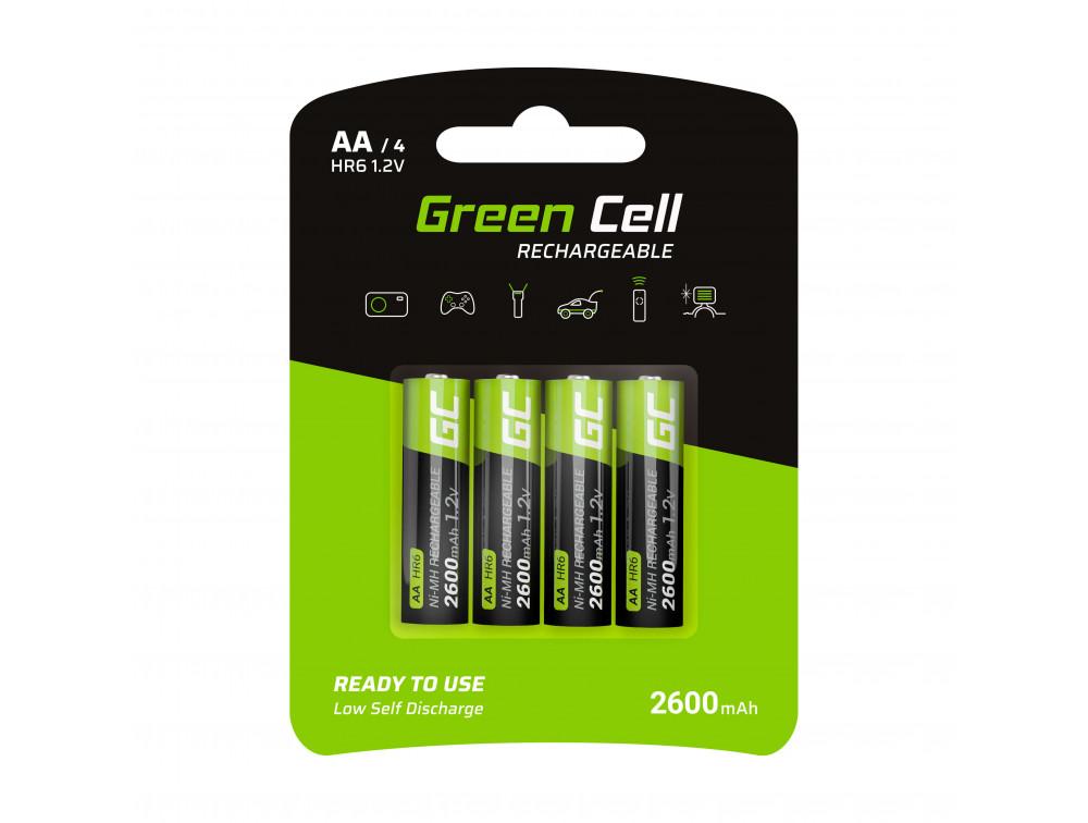 Green Cell 4x tölthető elem AA 2600mAh HR6