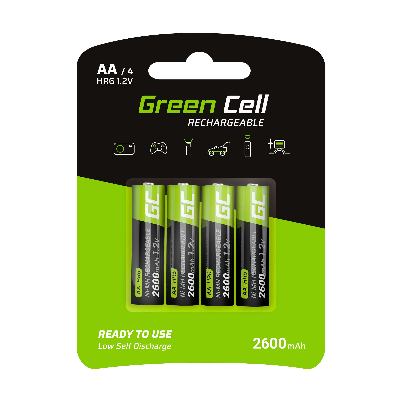 Green Cell Dobíjecí baterie Ni-MH 4x AA HR6 2600 mAh