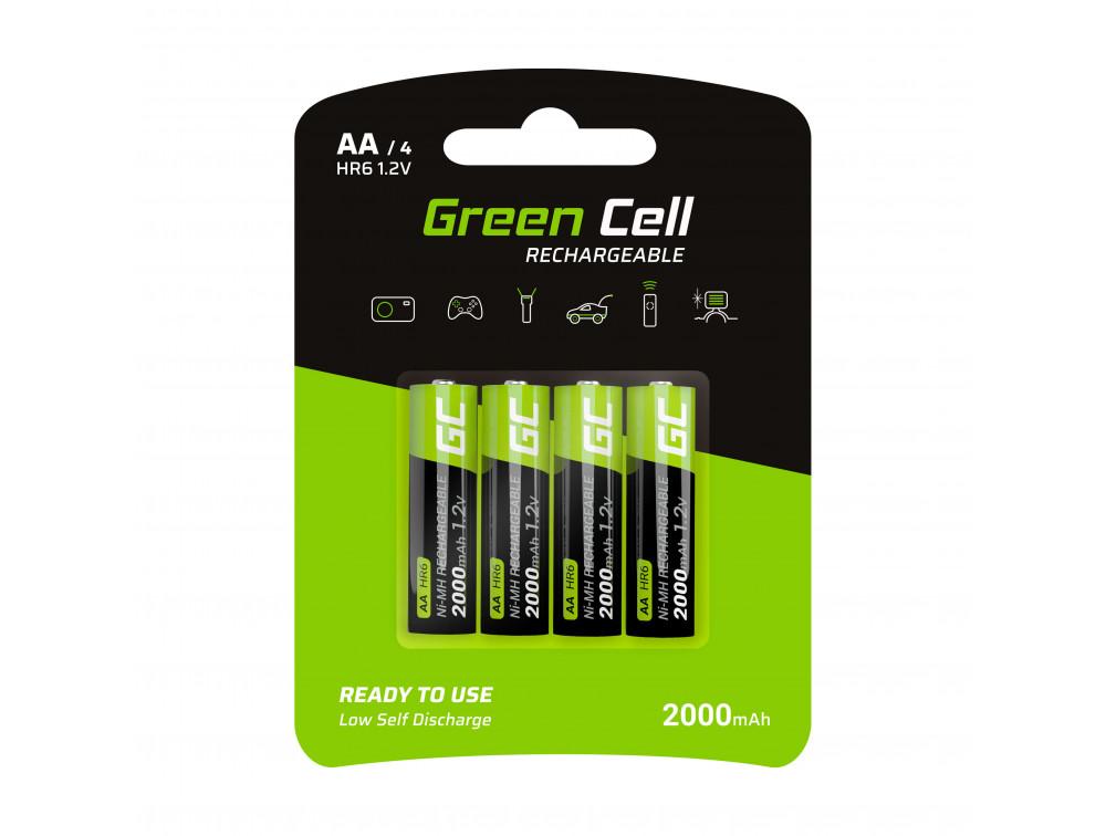 Green Cell 4x tölthető elem AA 2000mAh HR6