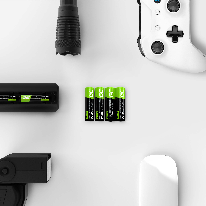 Green Cell Dobíjecí baterie Ni-MH 4x AA HR6 2000mAh