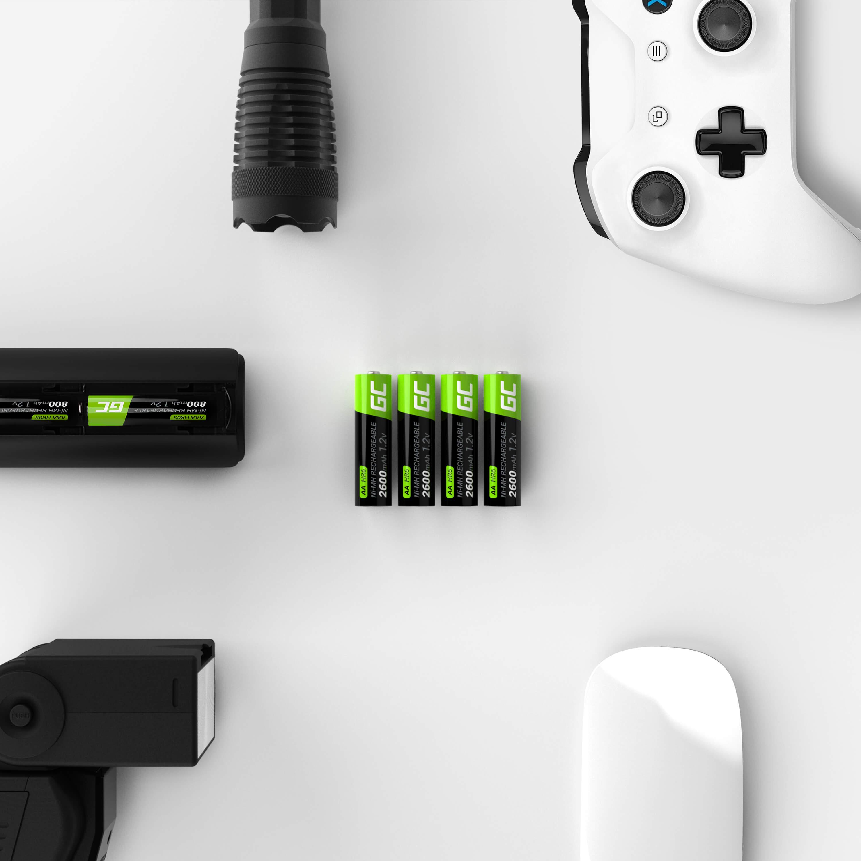 Green Cell 2x AA HR6 Batteries 2600mAh