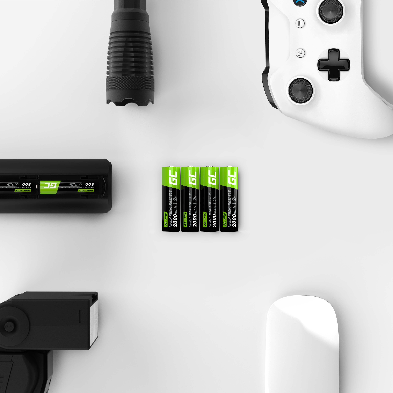 Green Cell Dobíjecí baterie Ni-MH 2x AA HR6 2000 mAh