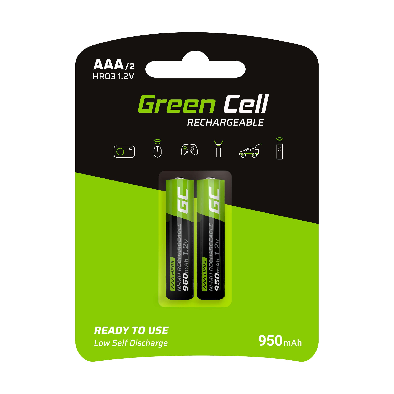 Green Cell 2x AAA HR03 Batteries 950mAh