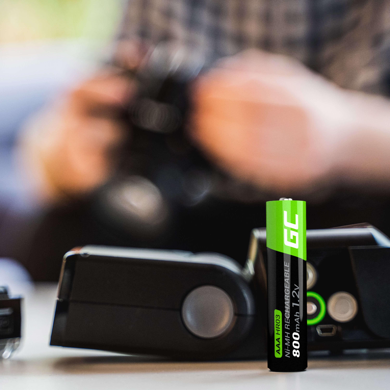 Green Cell 2x AAA HR03 Batteries 800mAh