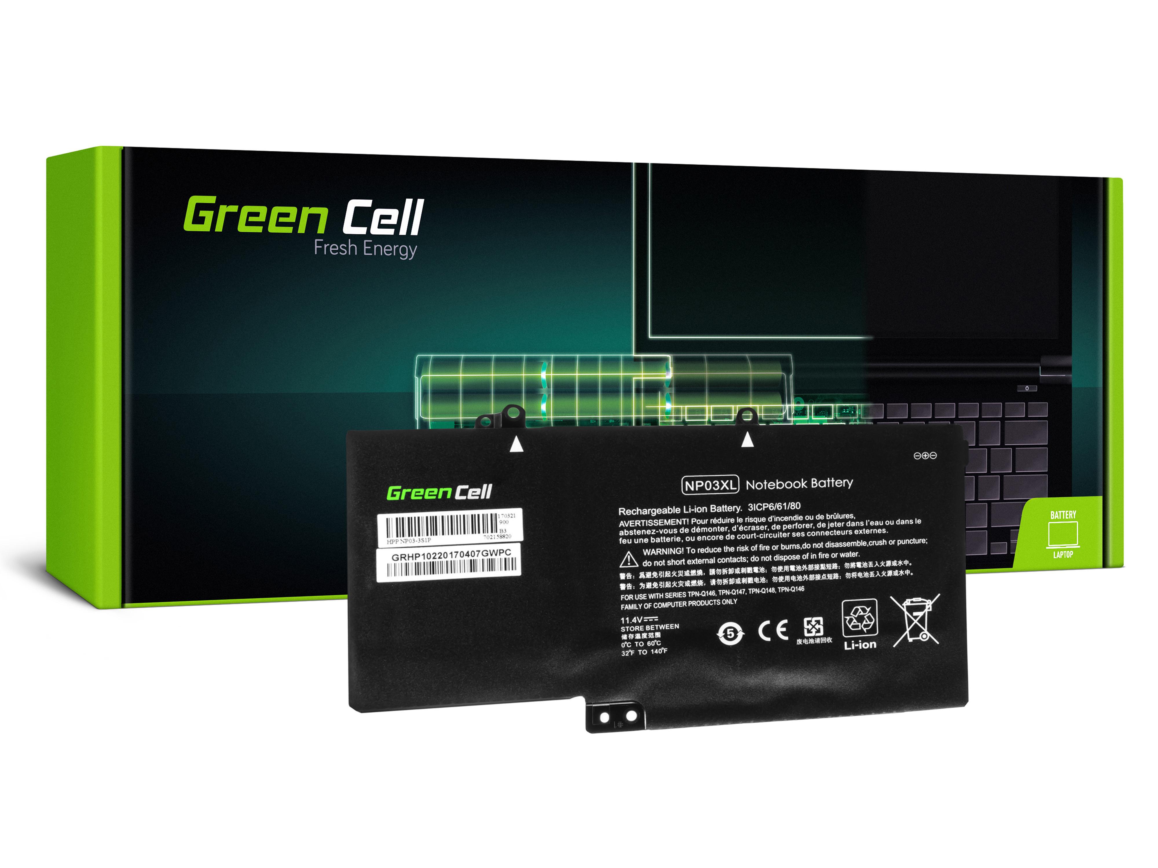 Green Cell Battery for HP Pavilion x360 13-A 13-B / 11,4V 3400mAh